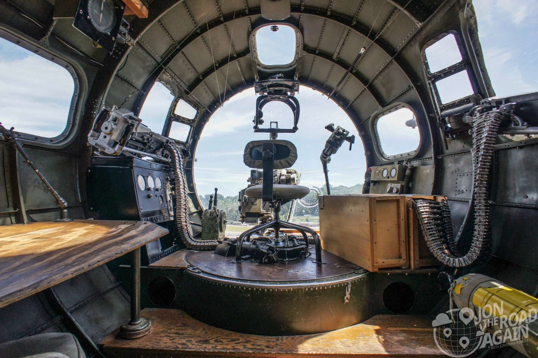 Collings Foundation B-17 Flying Fortress nose gun