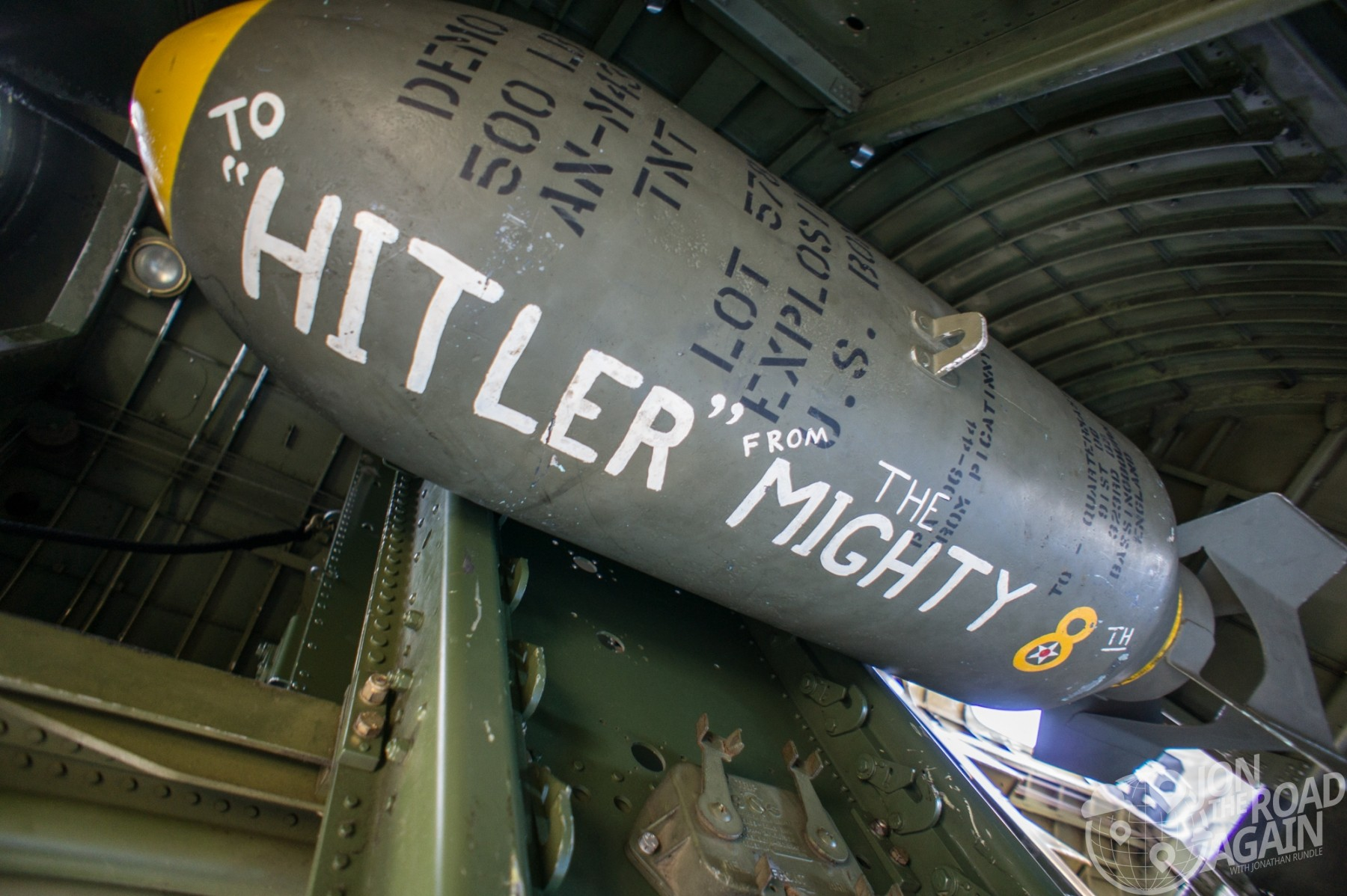 WWII Bomb to hitler from the mighty 8th