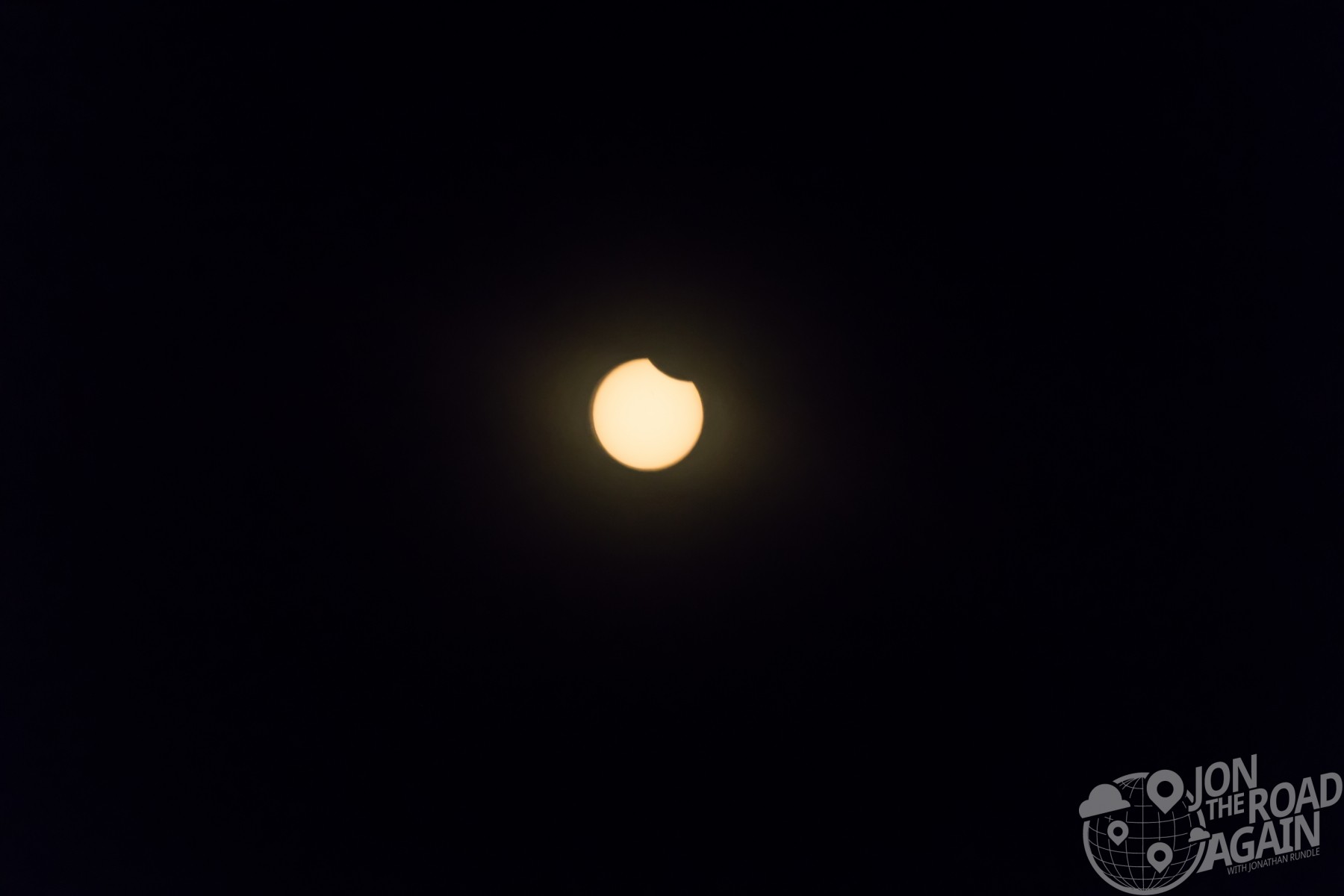 First part of the eclipse