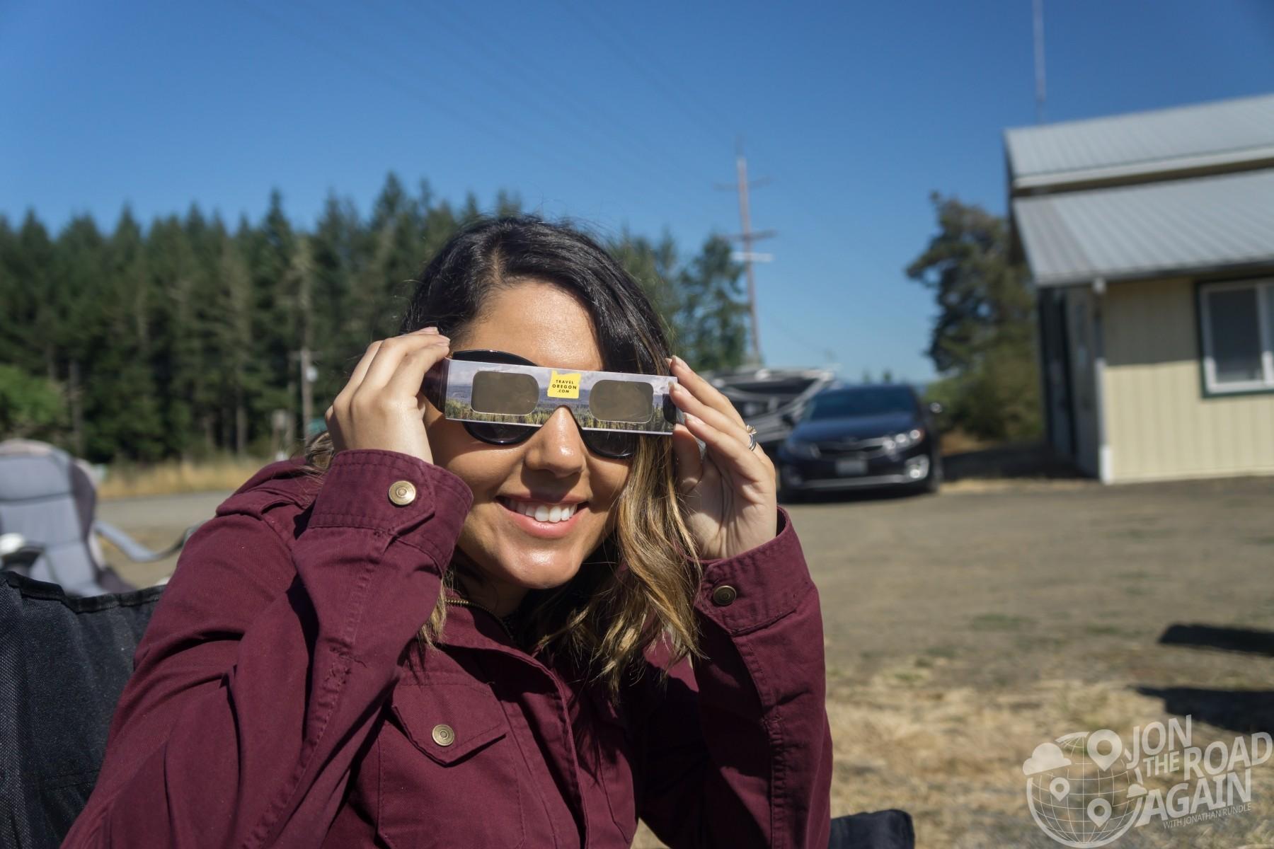 Travel Oregon eclipse glasses