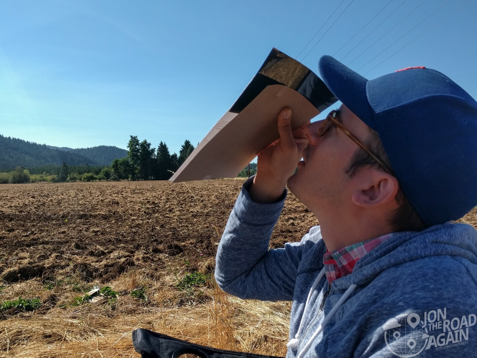 Jonathan looks at the eclipse