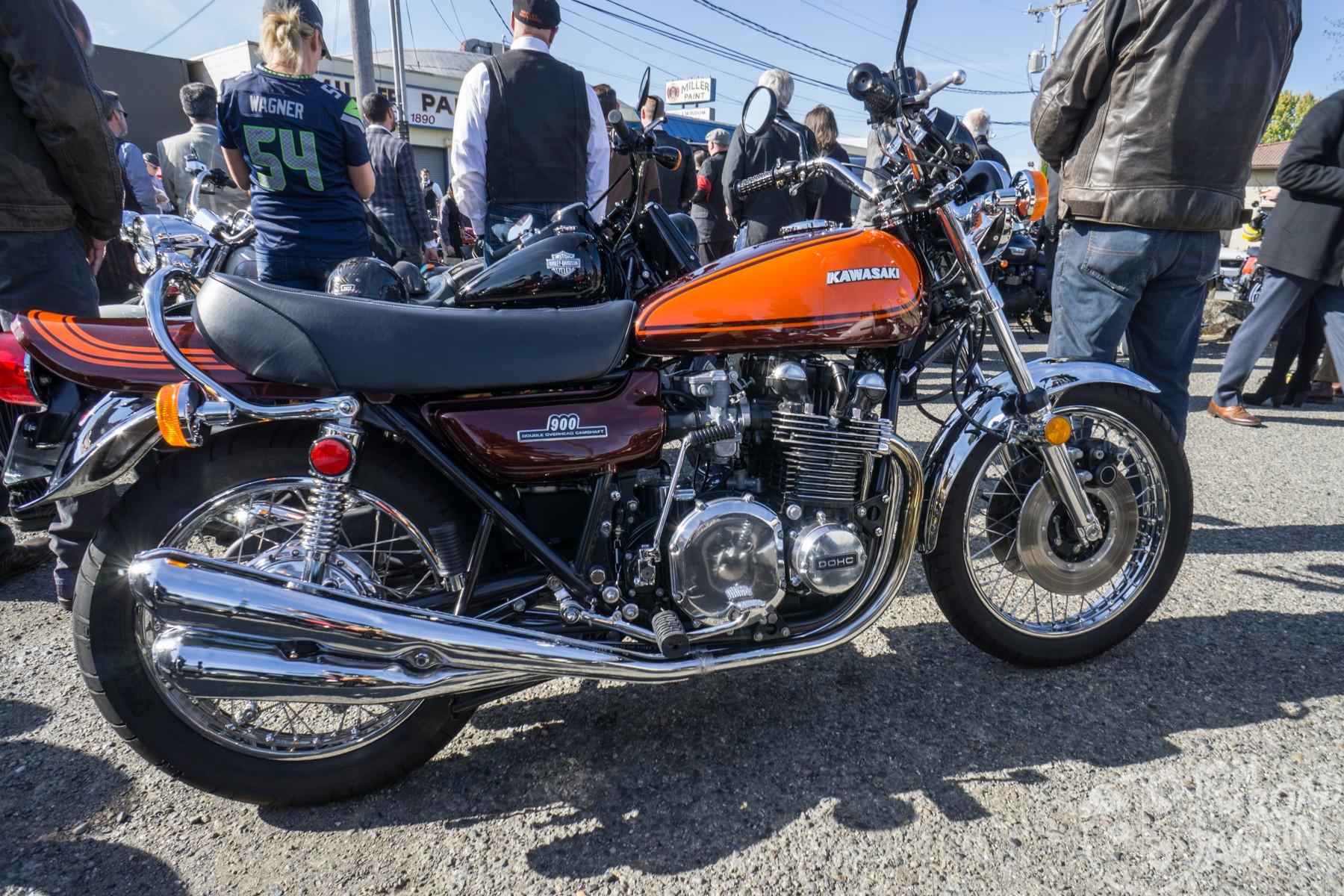 Kawasaki KZ 900 Distinguished Gentleman's Ride Seattle