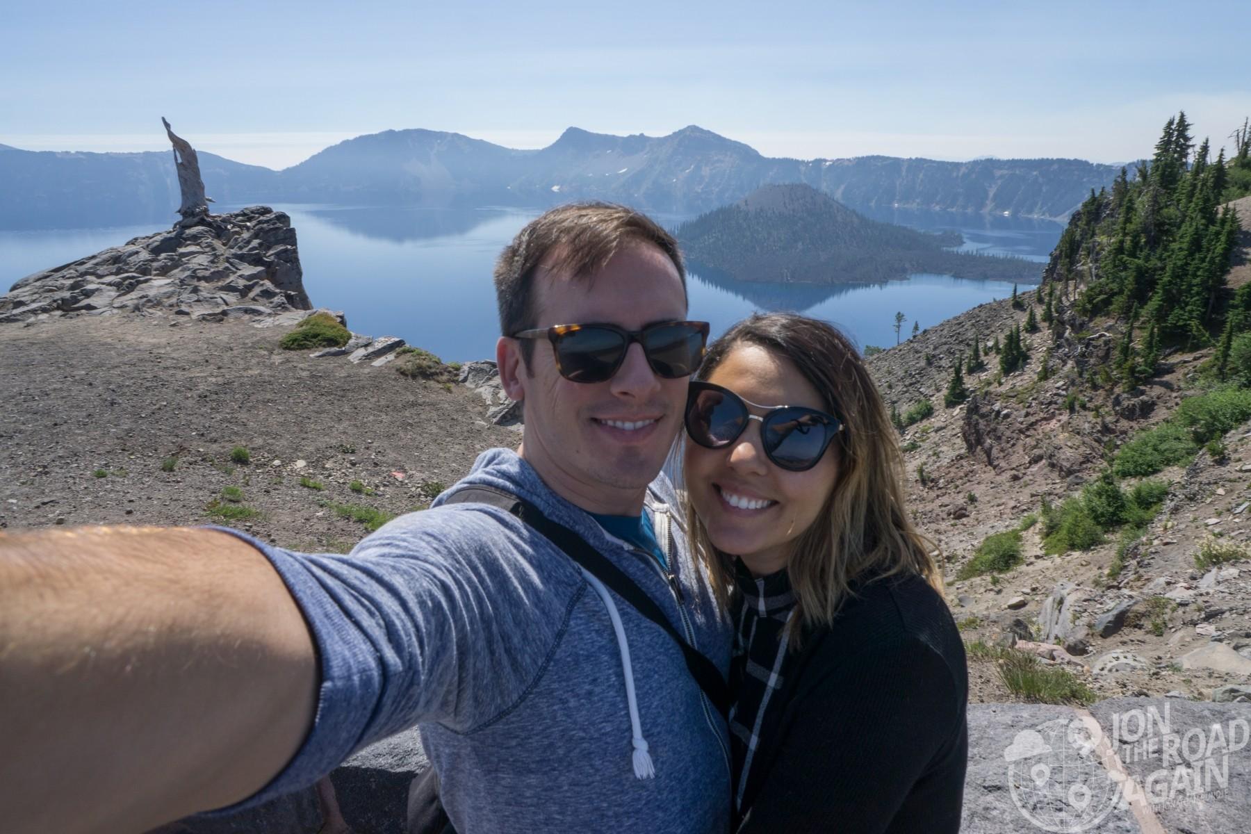 selfie at Crater Lake