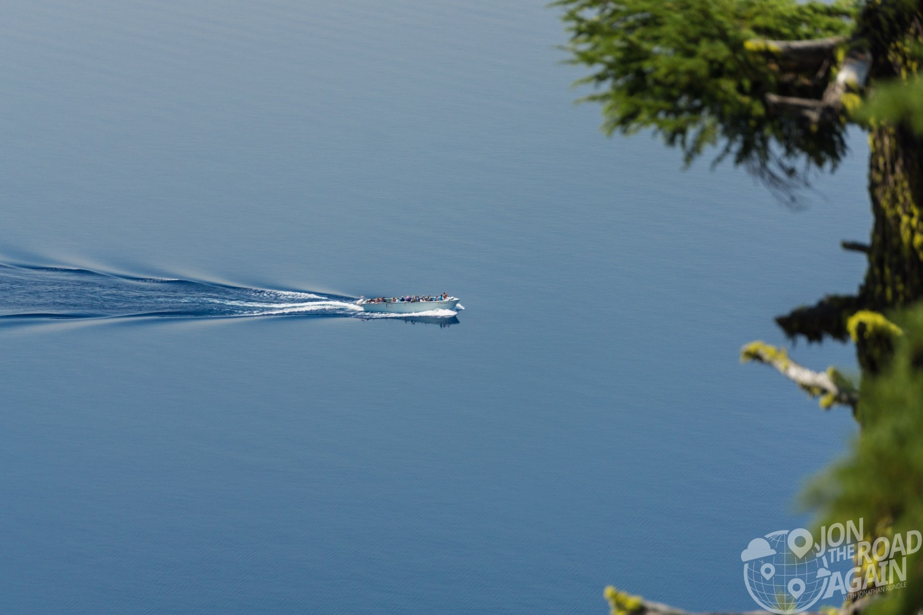 crater lake boat
