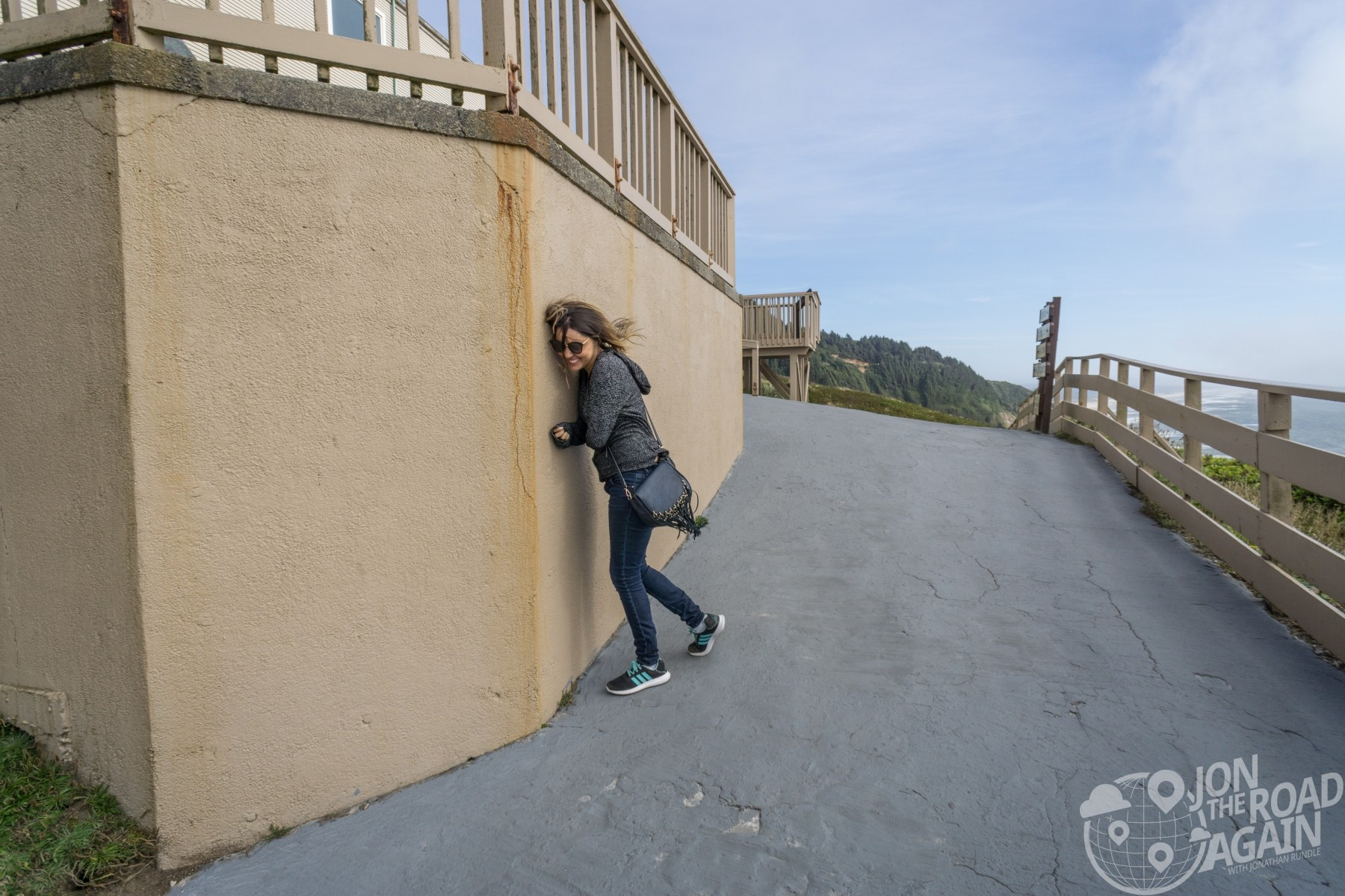 Windy at Sea Lion Caves