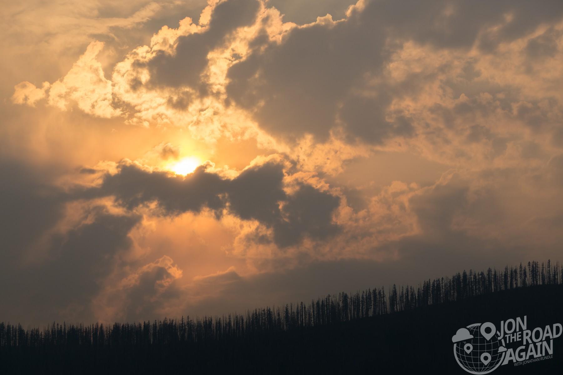 Sun over Lake Mcdonald