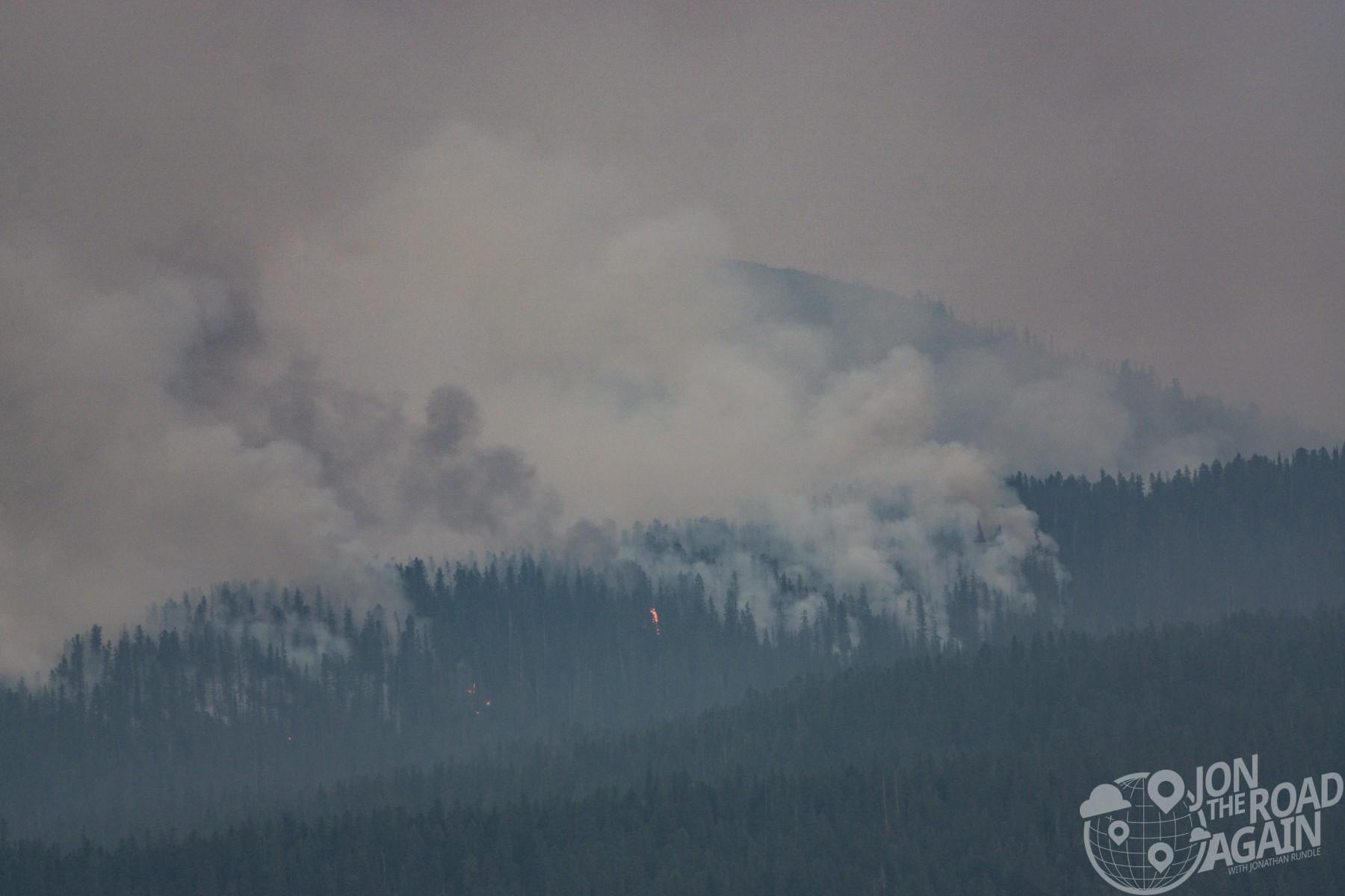 Forest fires in Glacier National Park
