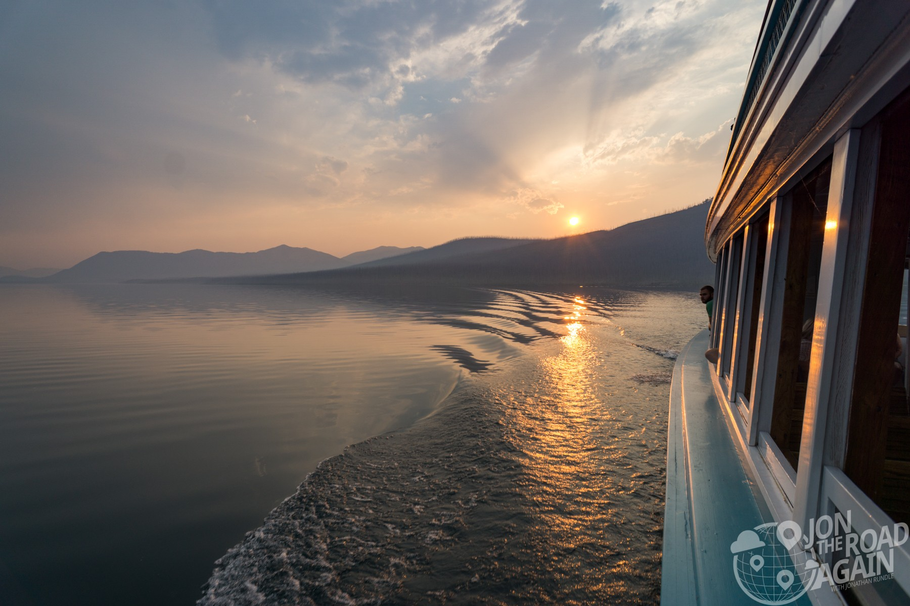 Lake Mcdonald sunset boat tour