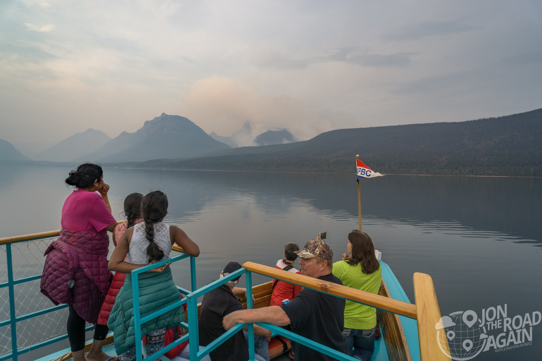 Lake Mcdonald boat tour desmet