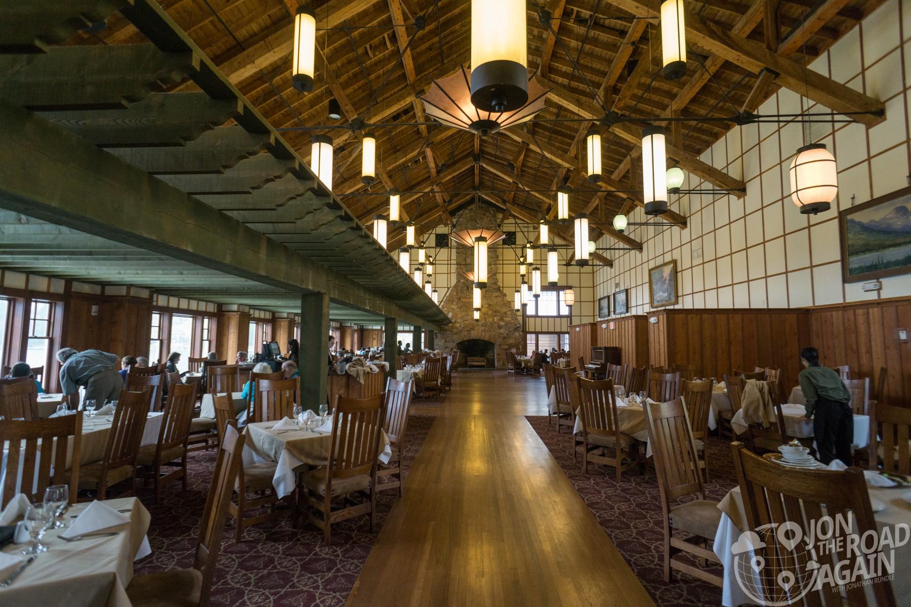 Many Glacier hotel restaurant