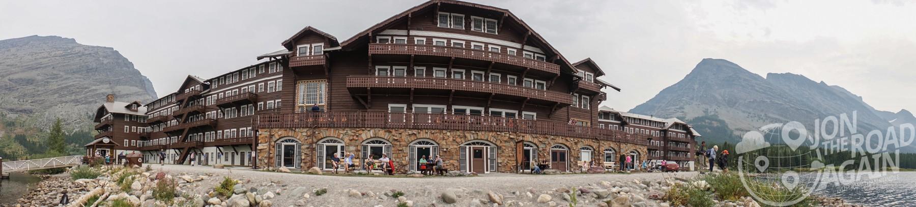 Many Glacier Hotel Panorama