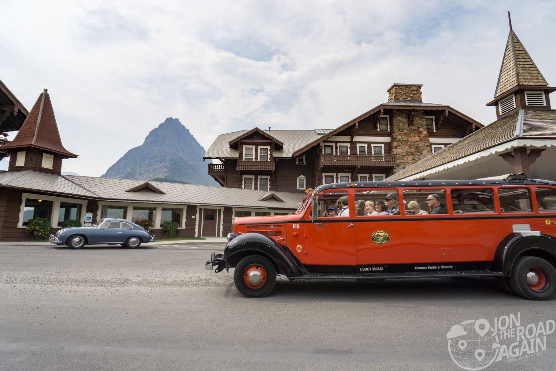 Many Glacier Hotel red bus