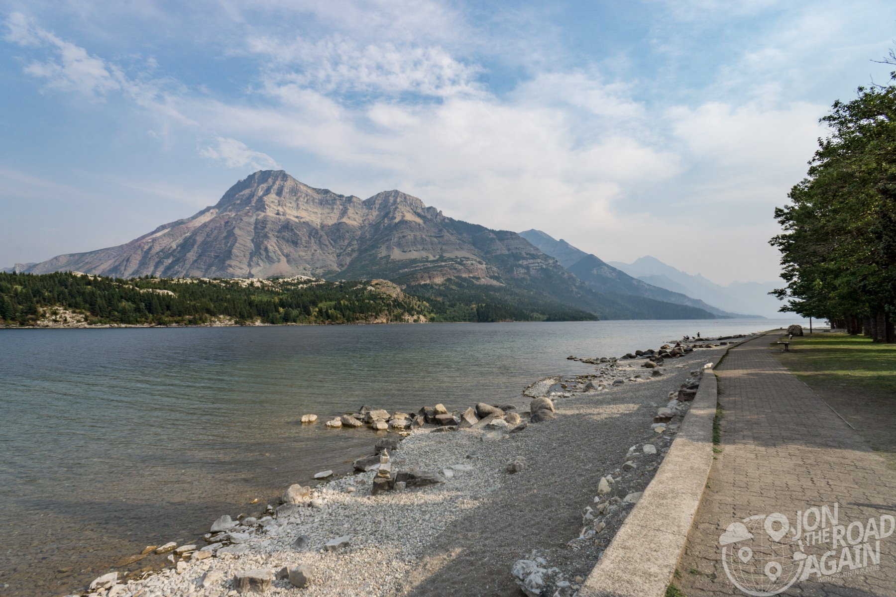 Walk along Waterton Lakes