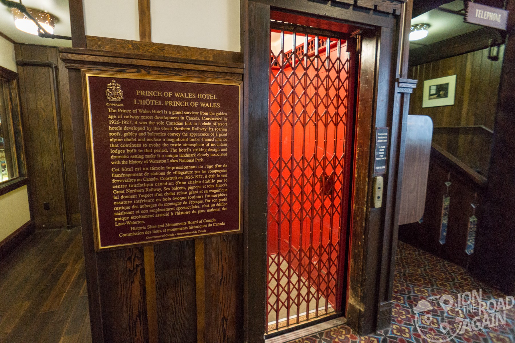 Prince of Wales Hotel Elevator