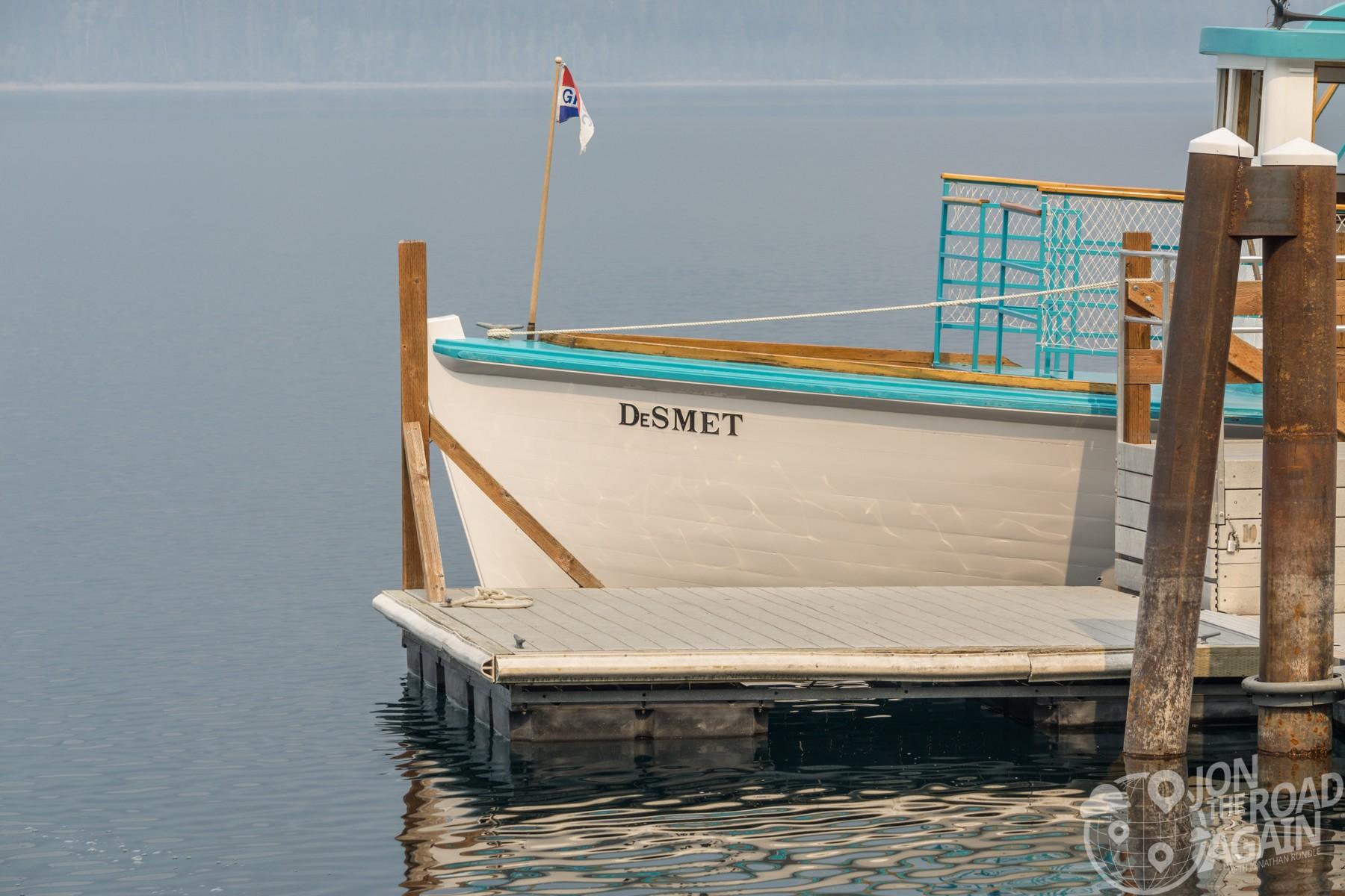 DeSmet lake mcdonald boat tour