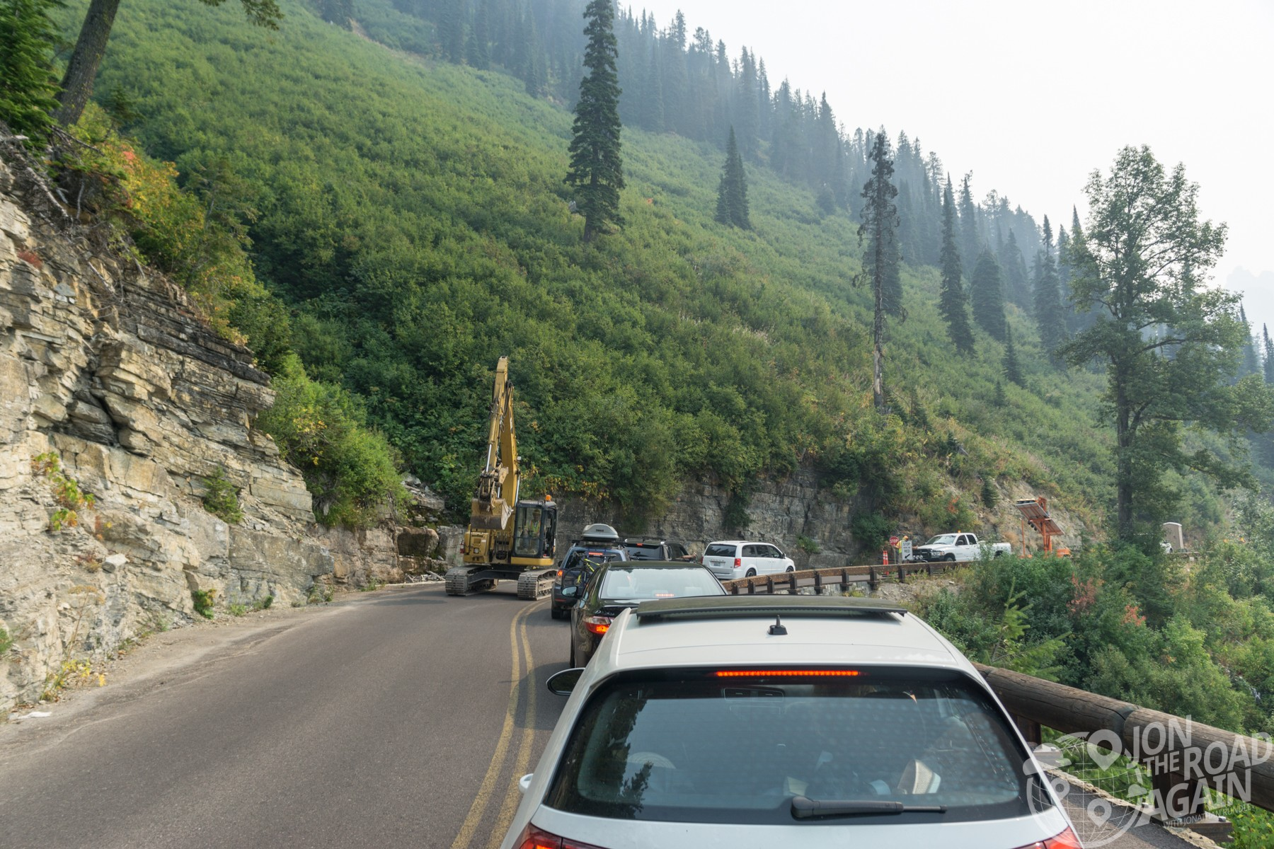 Construction on Going to the Sun Road