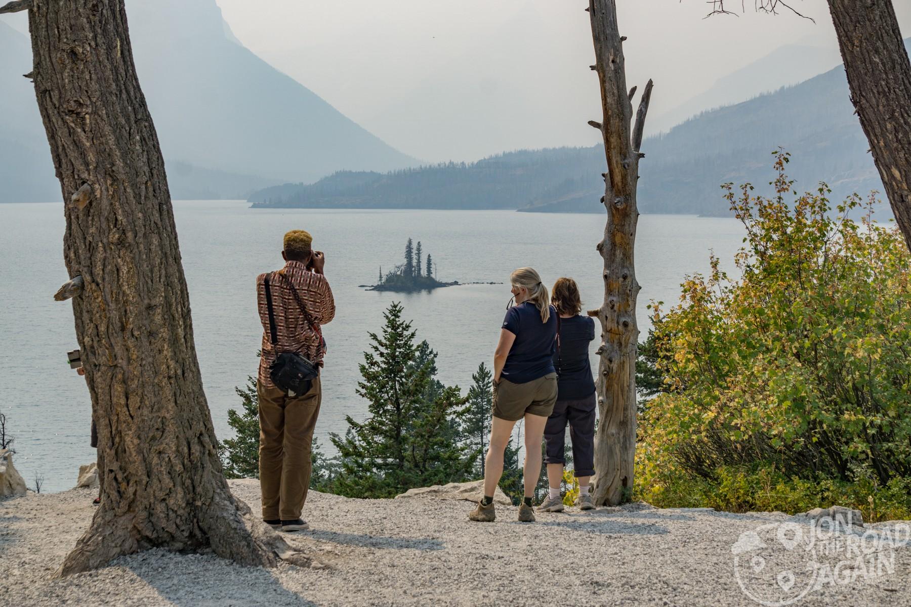 Wild Goose Island overlook Glacier National Park