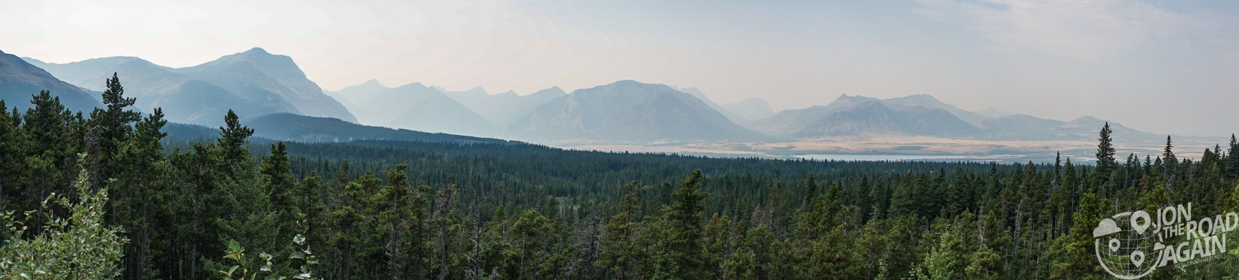 Waterton Lakes Overlook Panorama