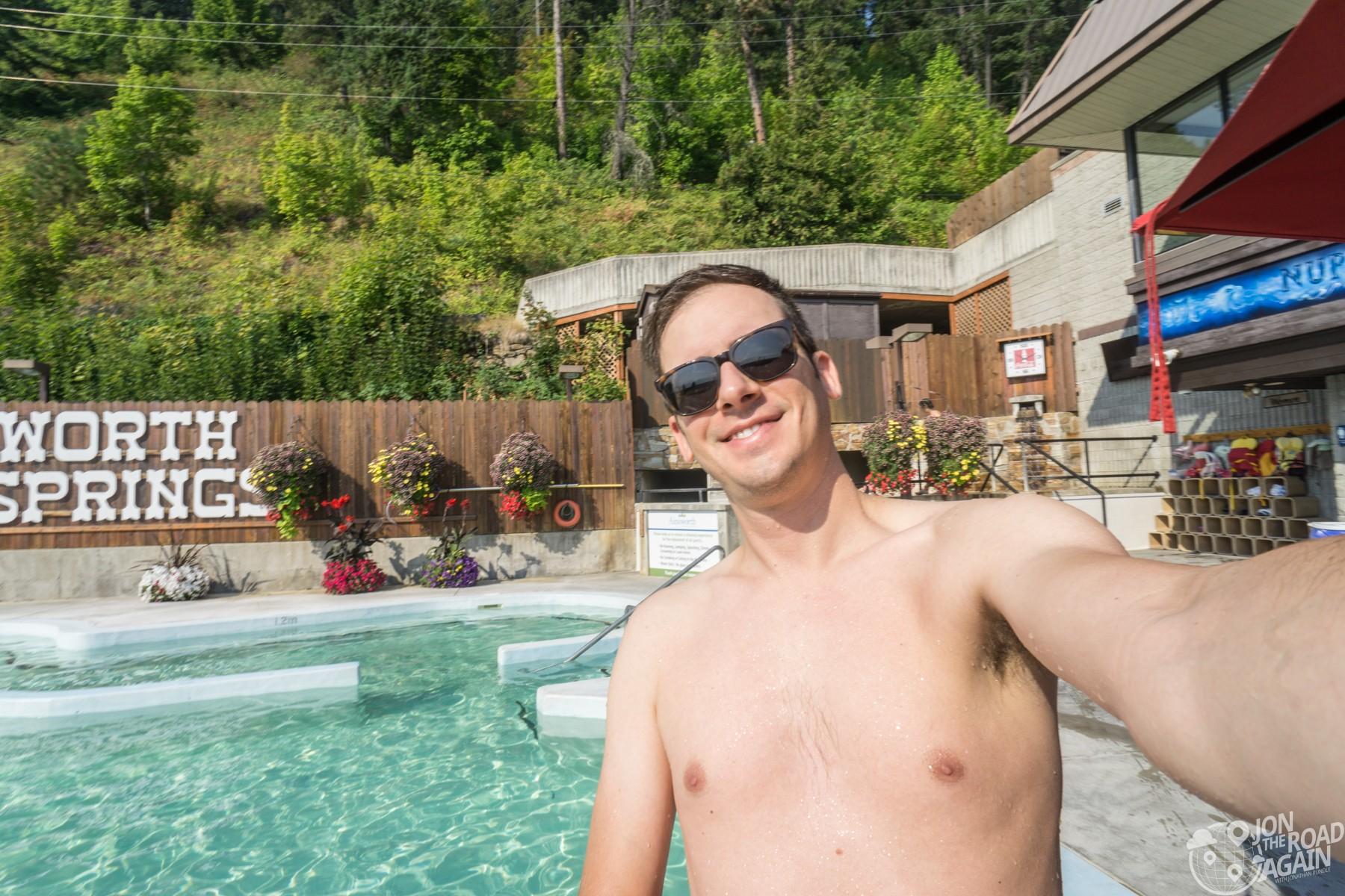 Ainsworth Hot Springs Selfie