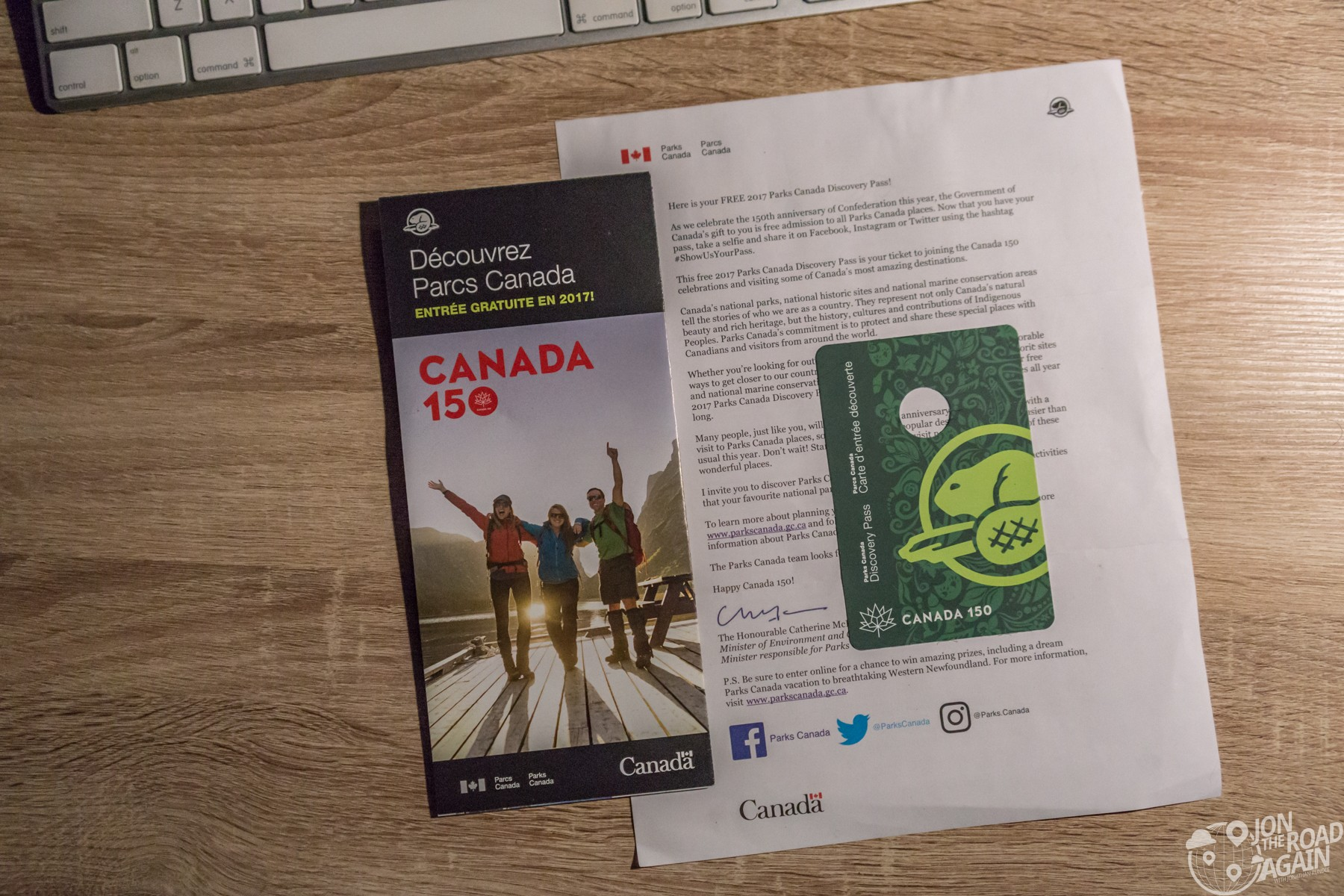 Free Parks Canada Pass