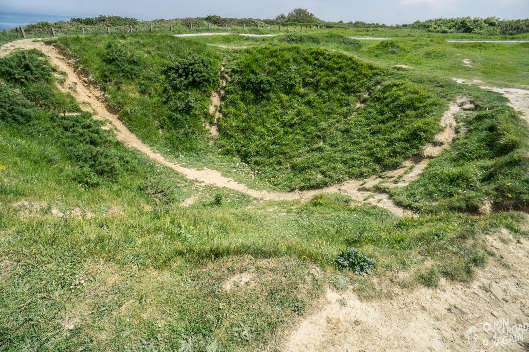 Pointe du Hoc bomb crater