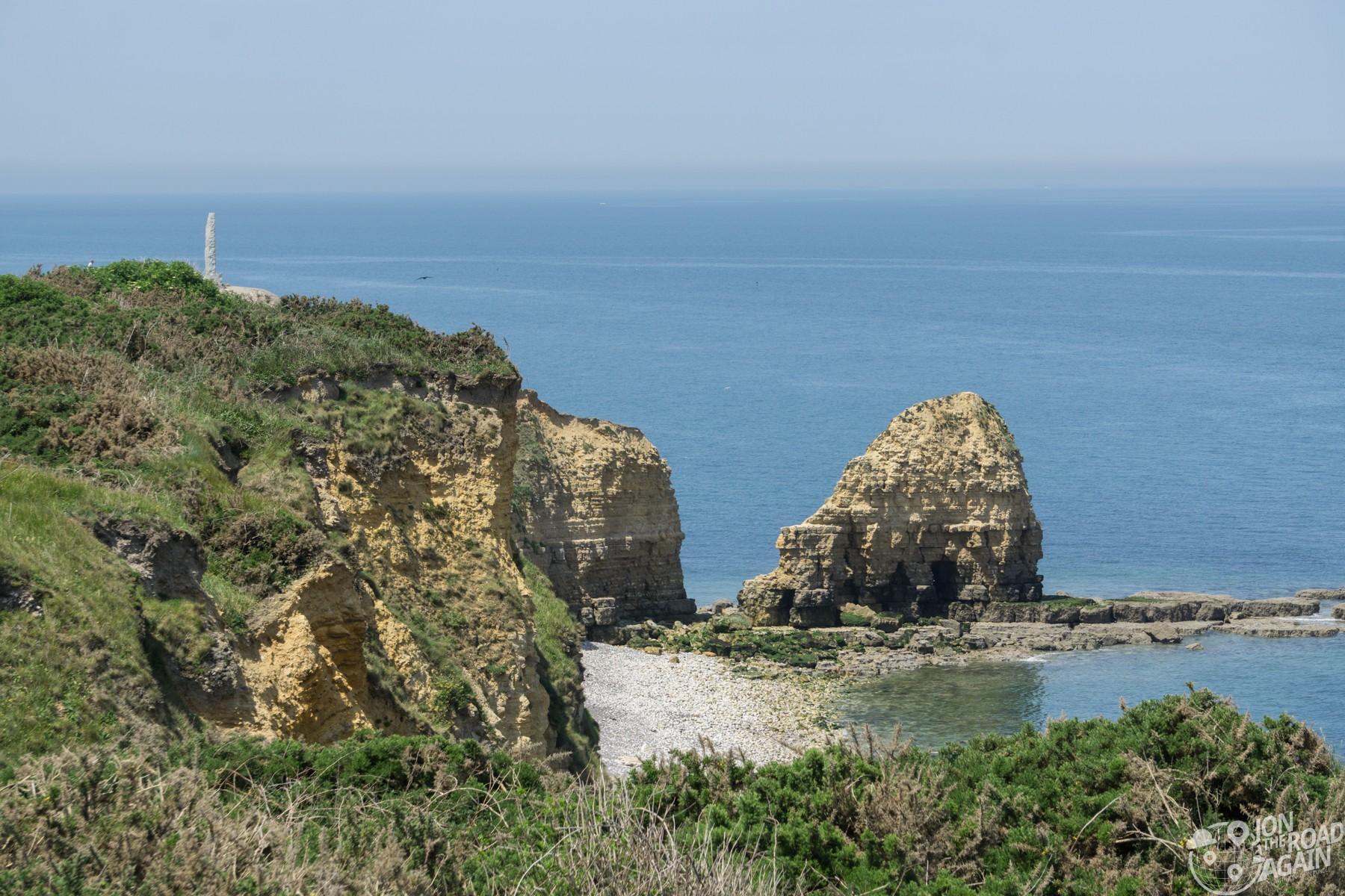 Pointe du Hoc coastline