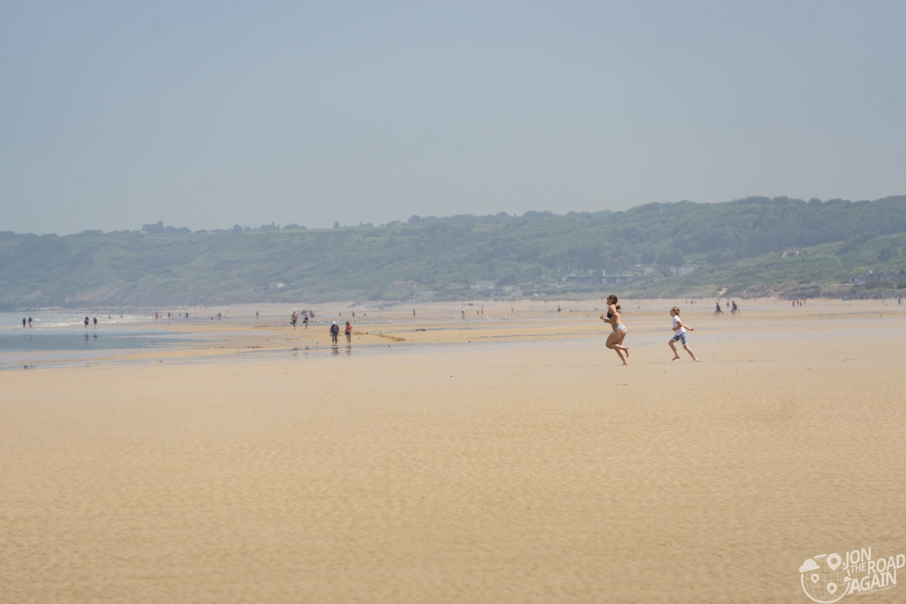 Running on Omaha Beach