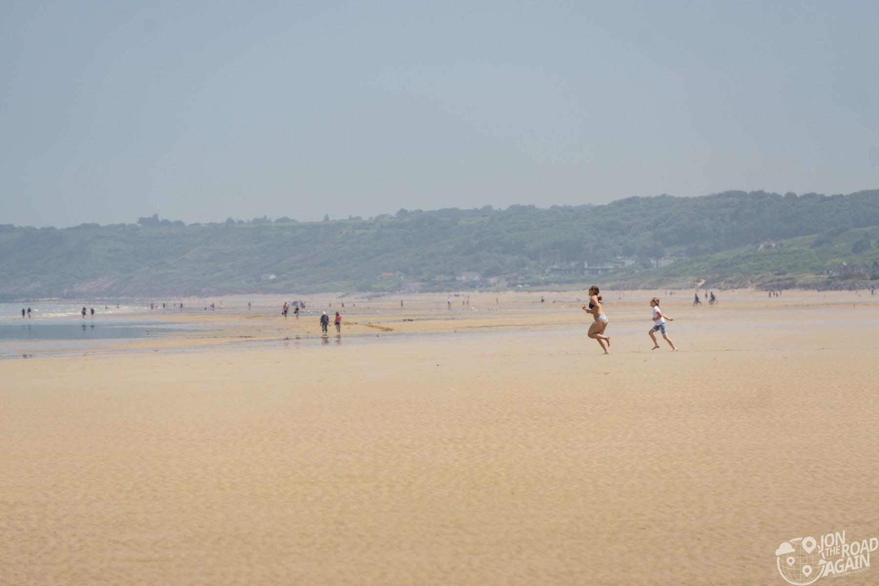 Running on Omaha Beach