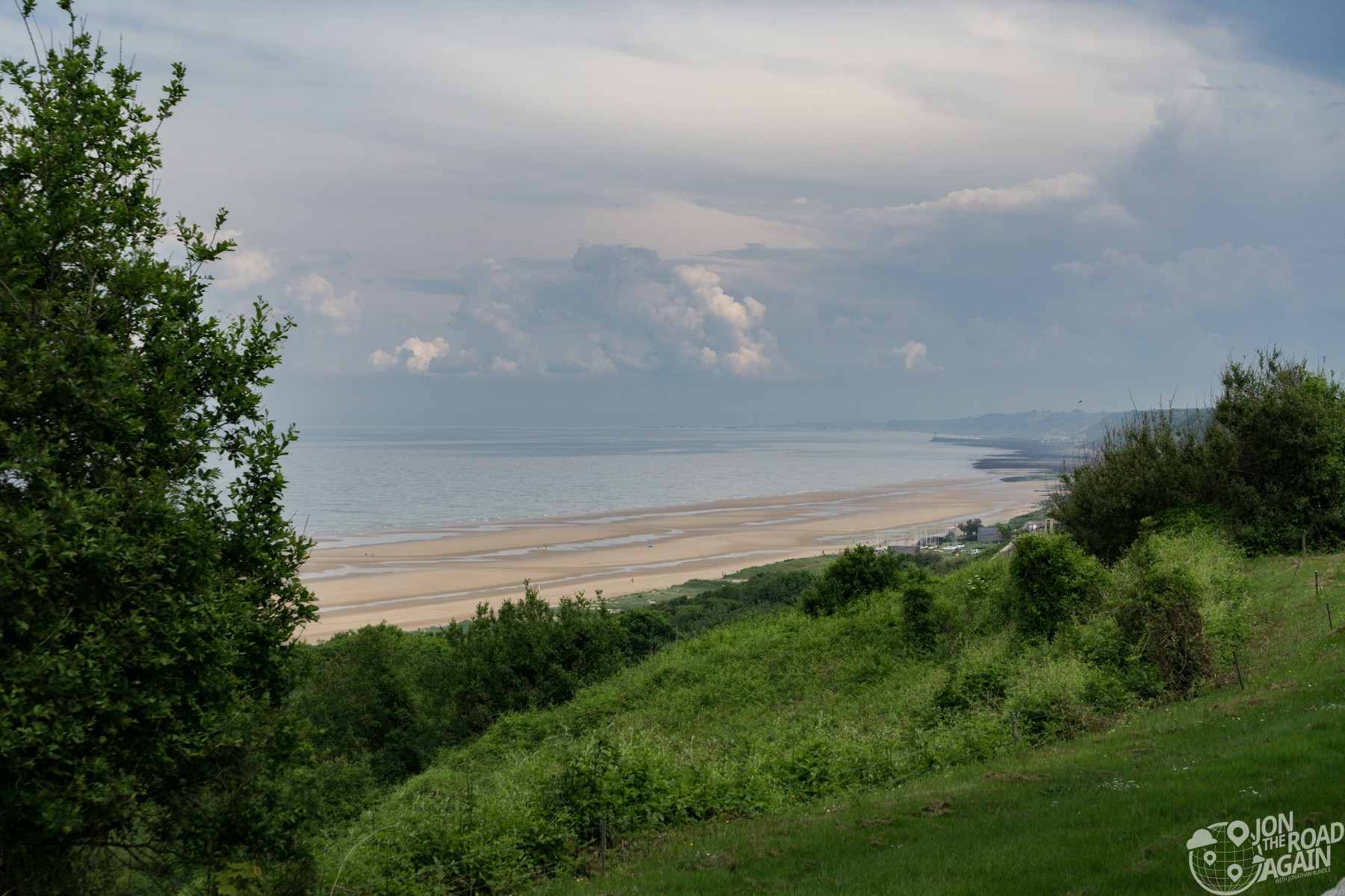 Omaha Beach from the Normandy American Cemetery