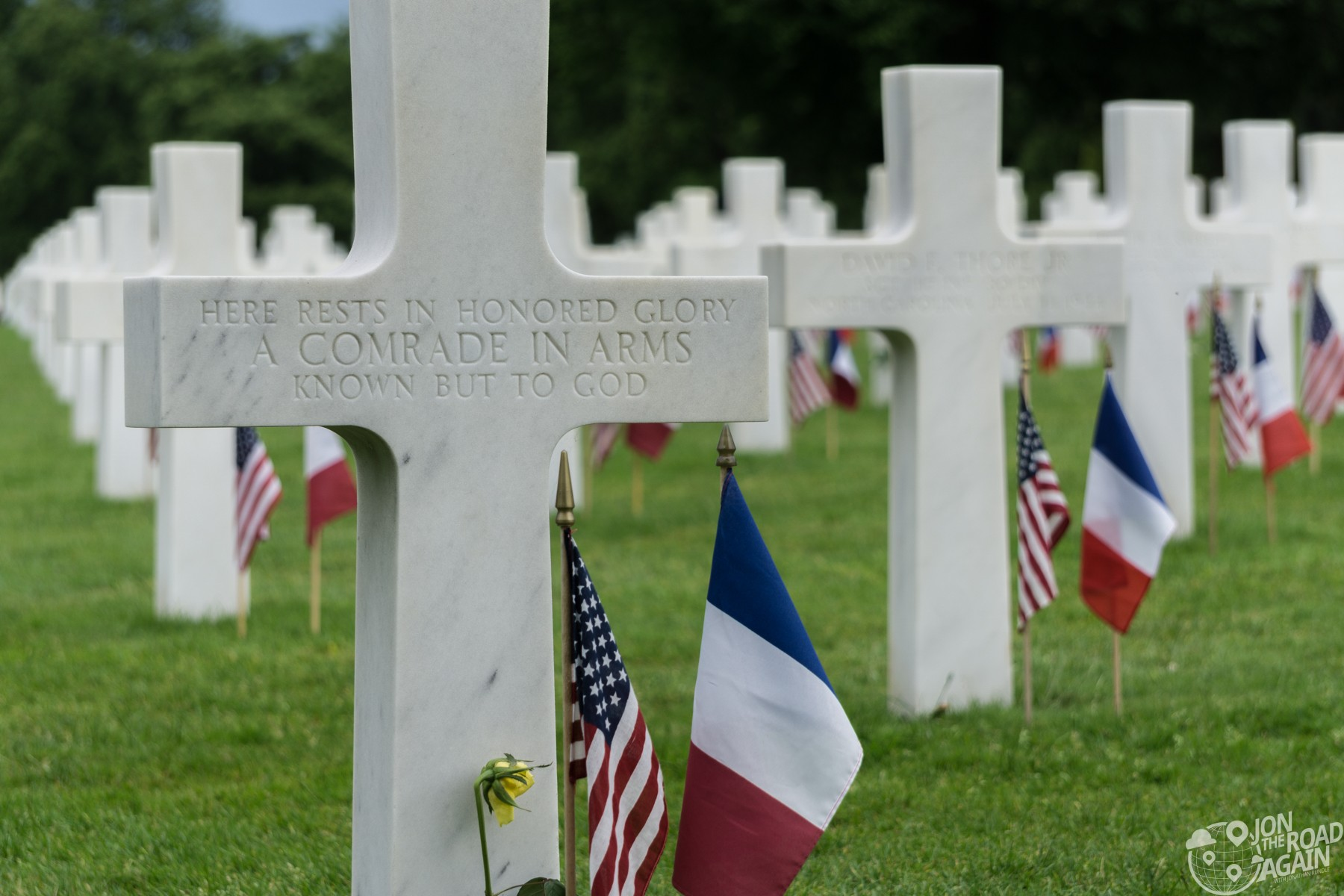 Normandy American Cemetery Unkown Soldier