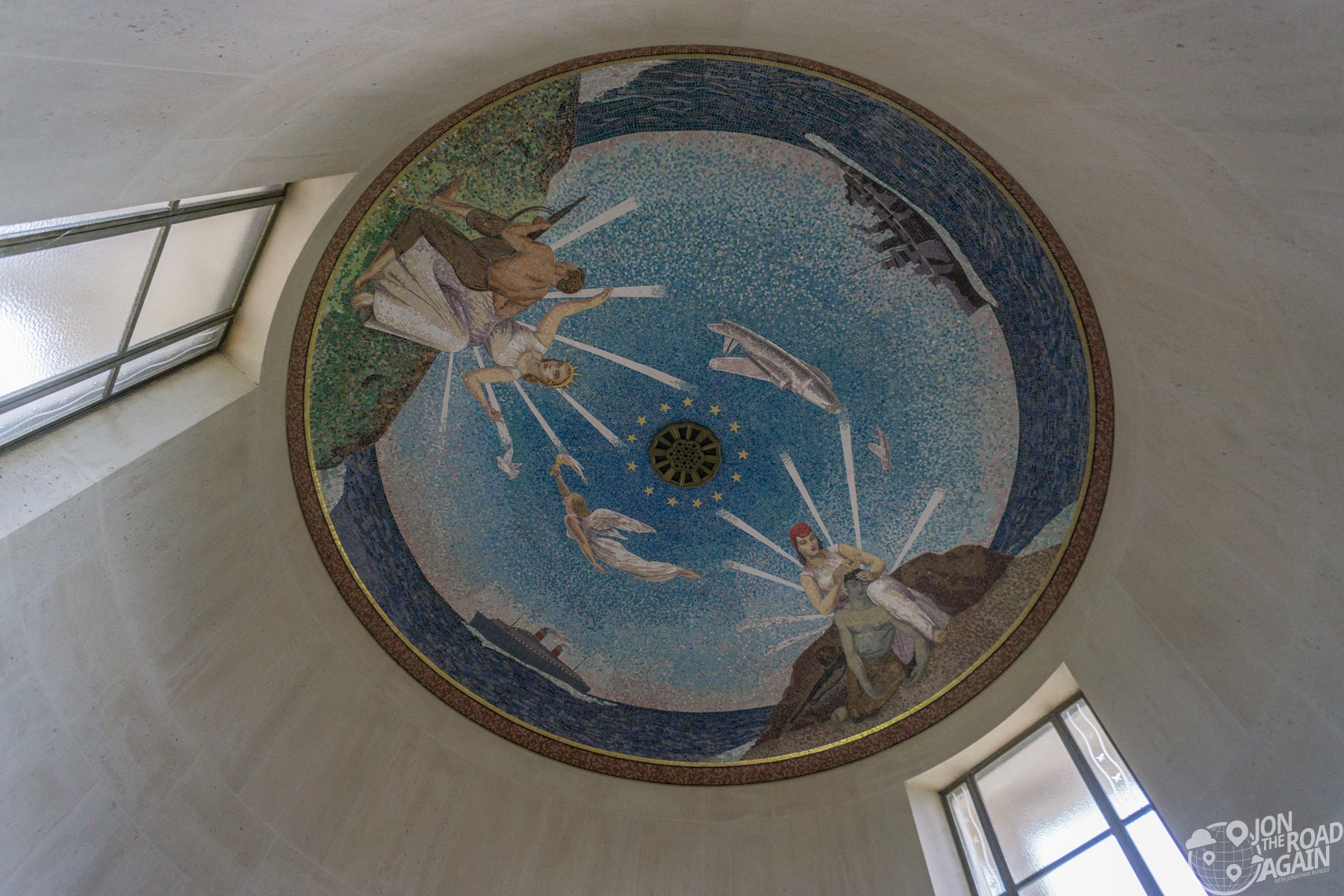 Chapel ceiling at Normandy American Cemetery