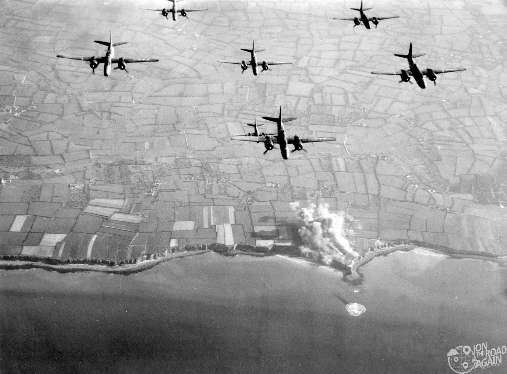 Preinvasion bombing of Pointe du Hoc