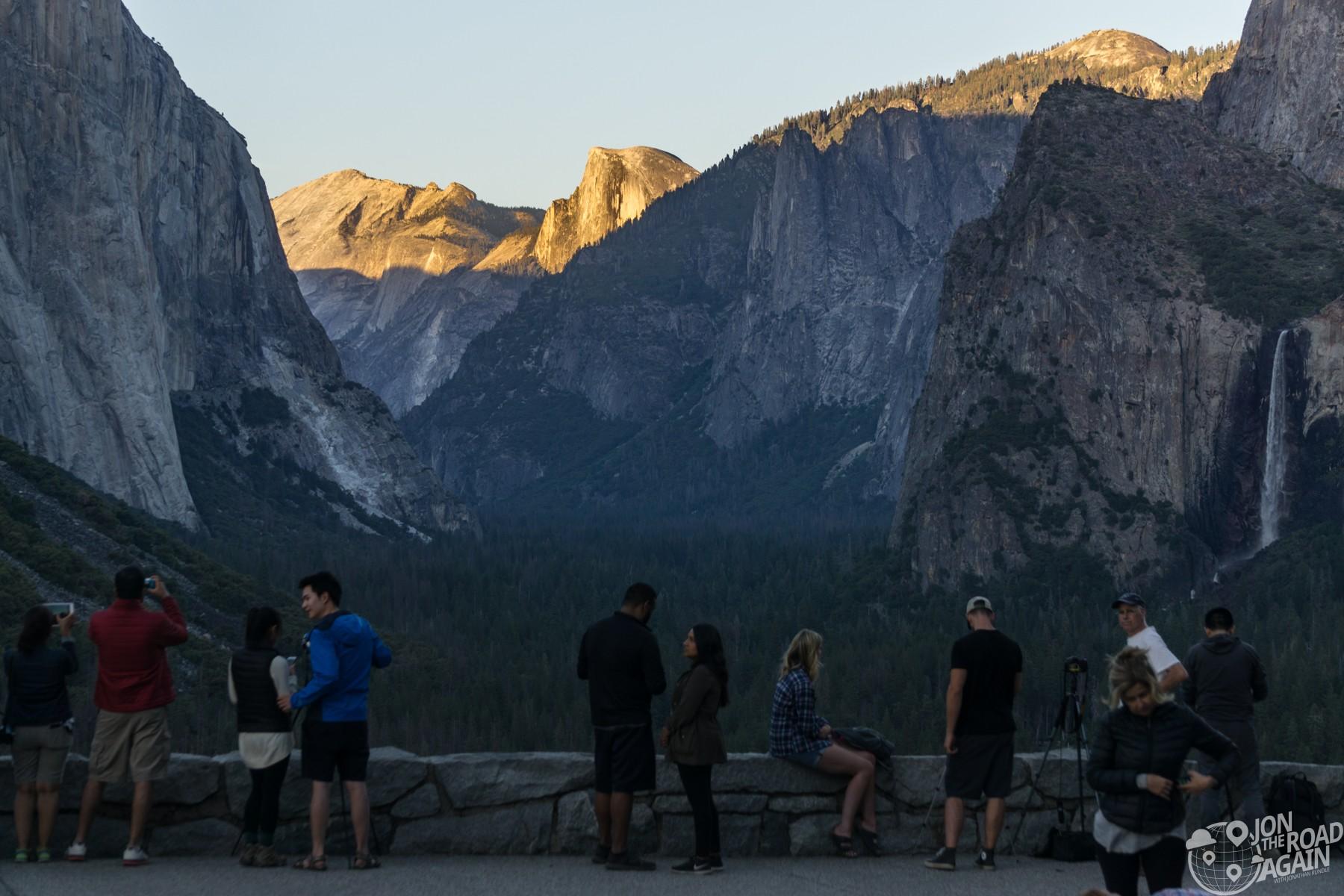 Tunnel View Overlook Yosemite Sunset