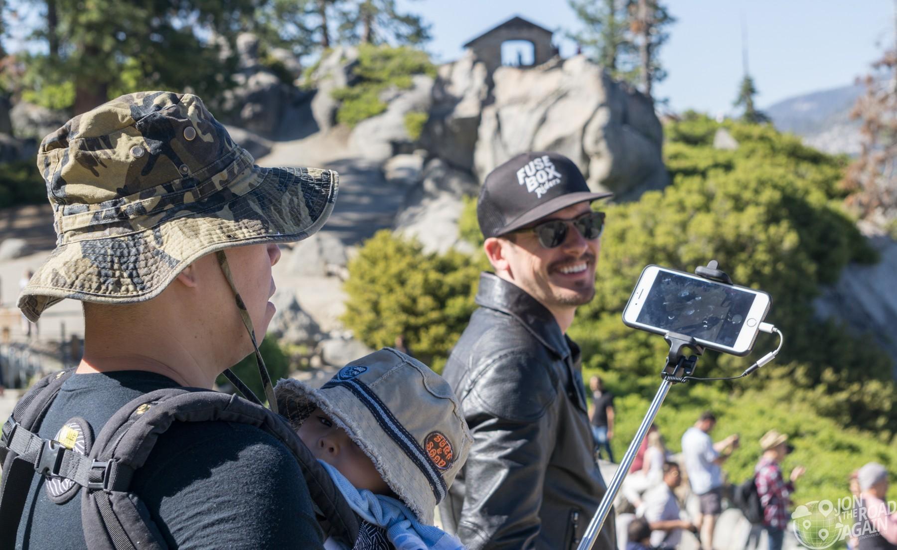 Tourist hordes at Glacier Point