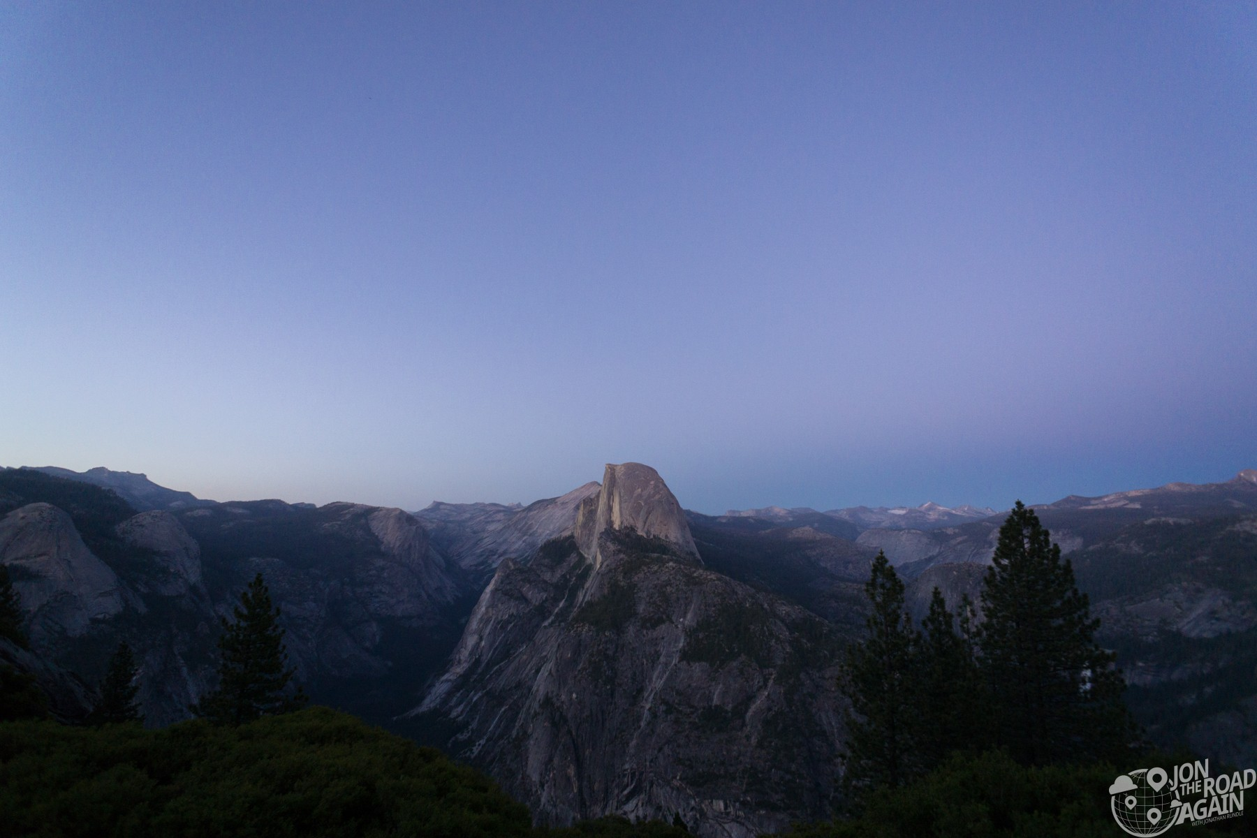Half dome sunset glacier point