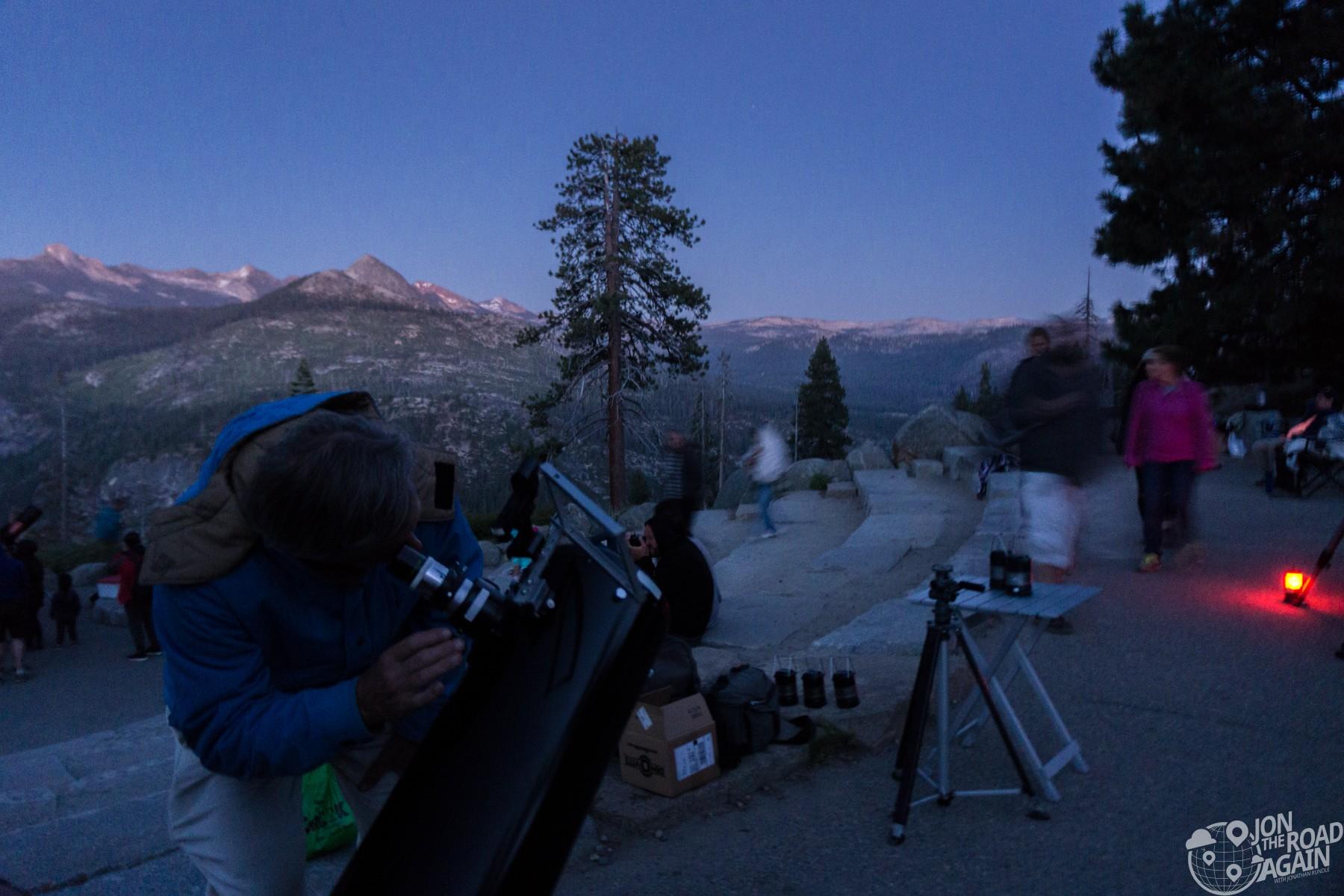 Glacier point star gazing