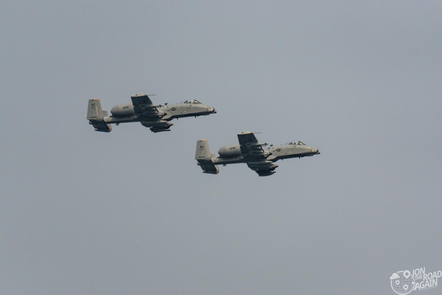 USAF A10 Flyover Seafair