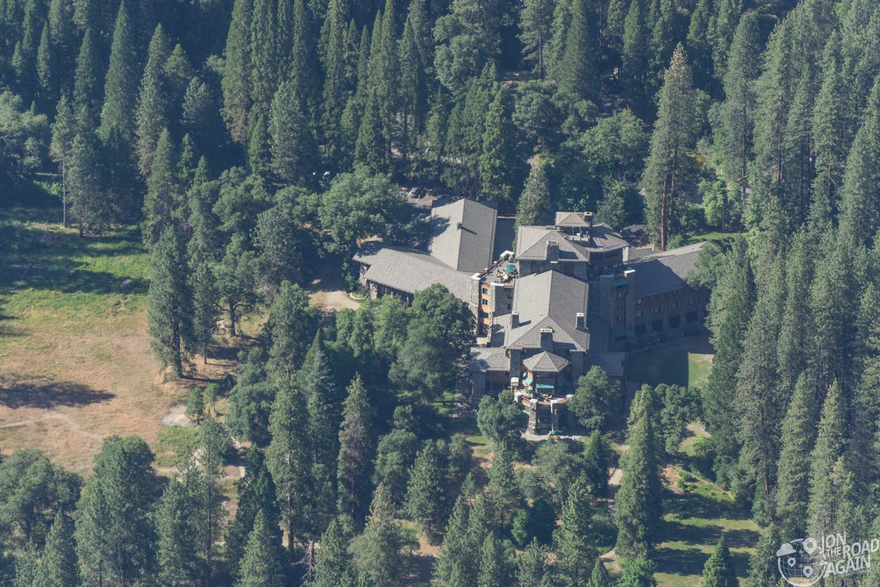 Majestic Yosemite Hotel from Glacier Po