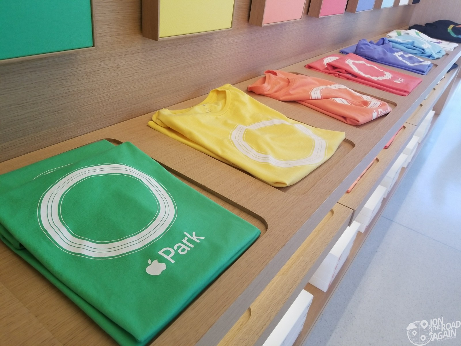 Shirts at the Apple Visitor Center