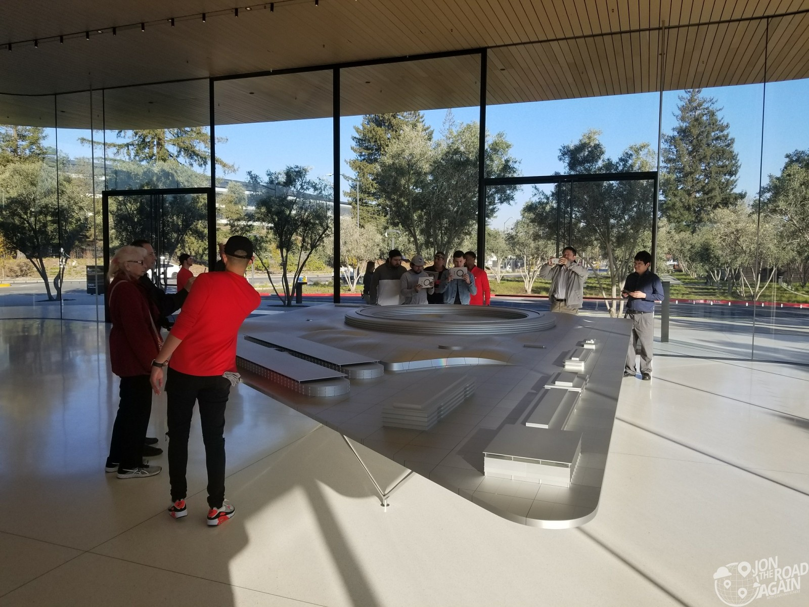 Apple Visitor Center AR campus