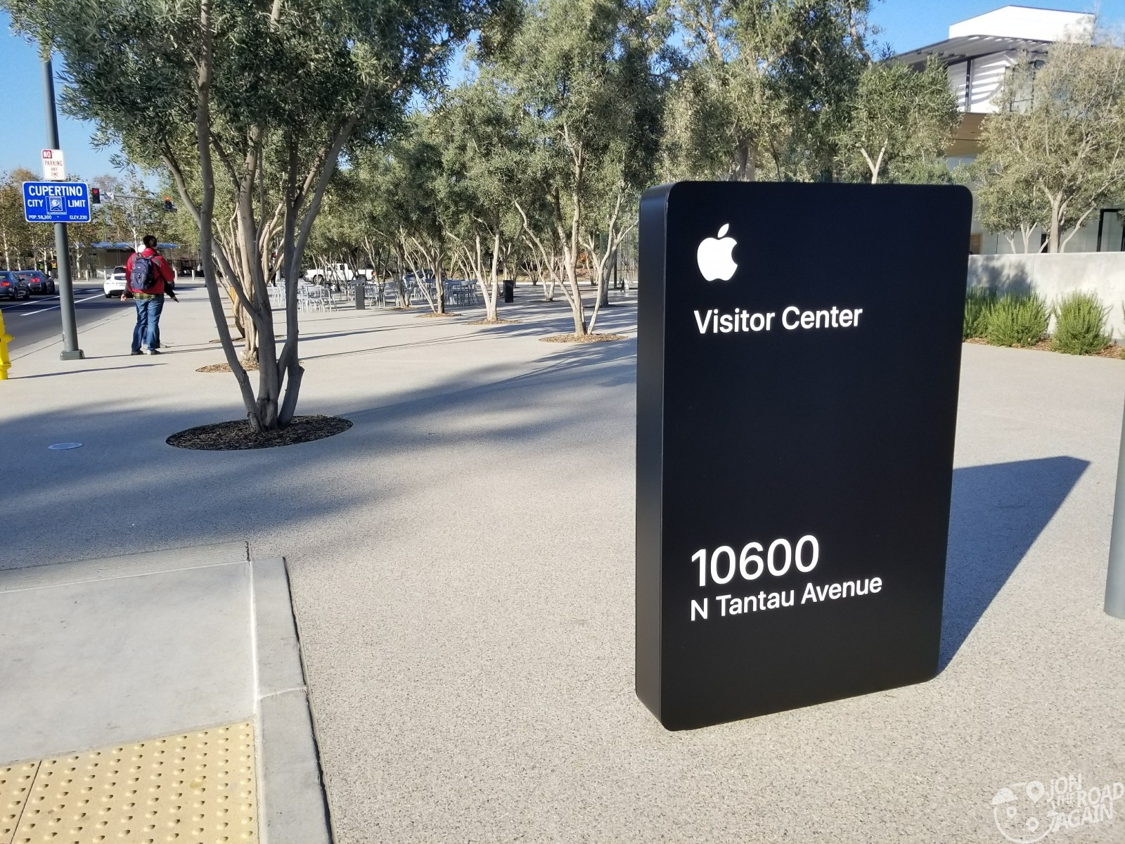Apple Visitor Center Sign