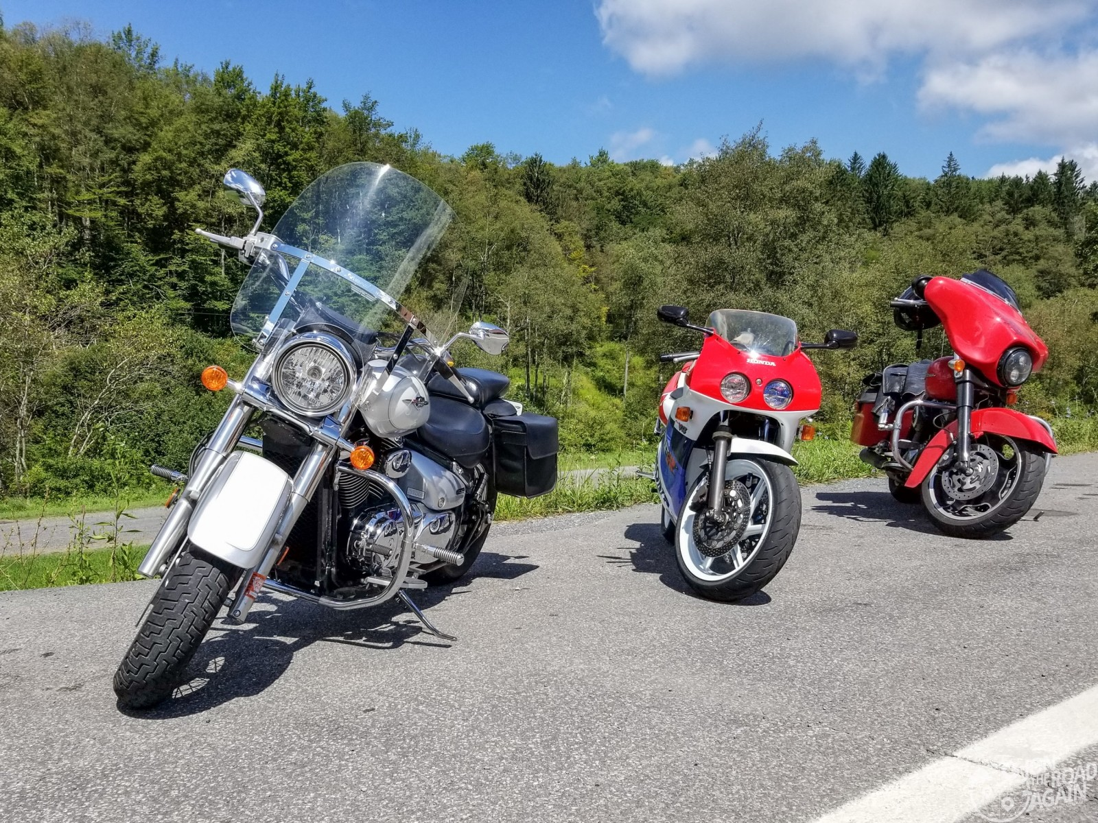 Riding motorcycles in West Virginia