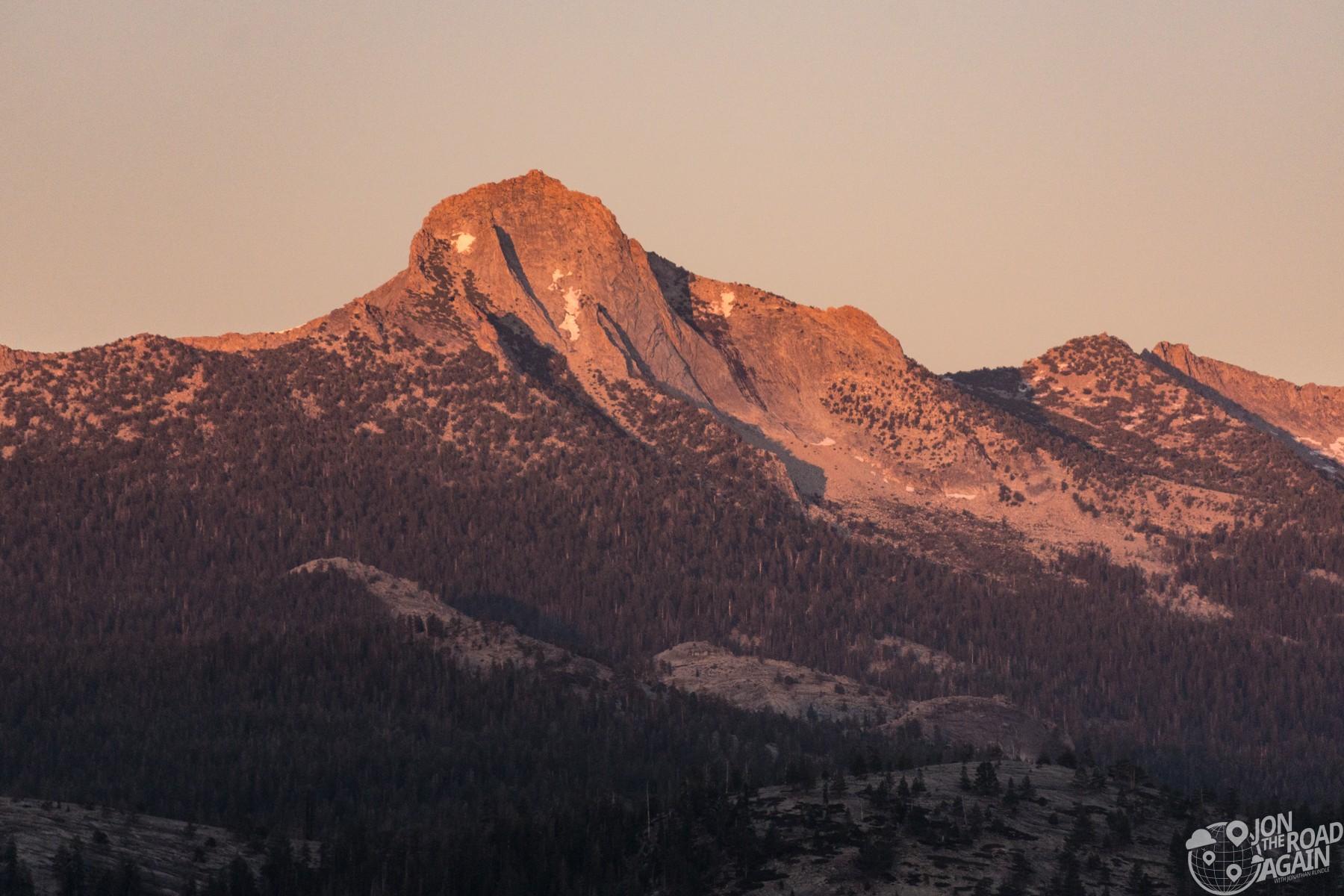 Alpenglow on Sierra Nevada