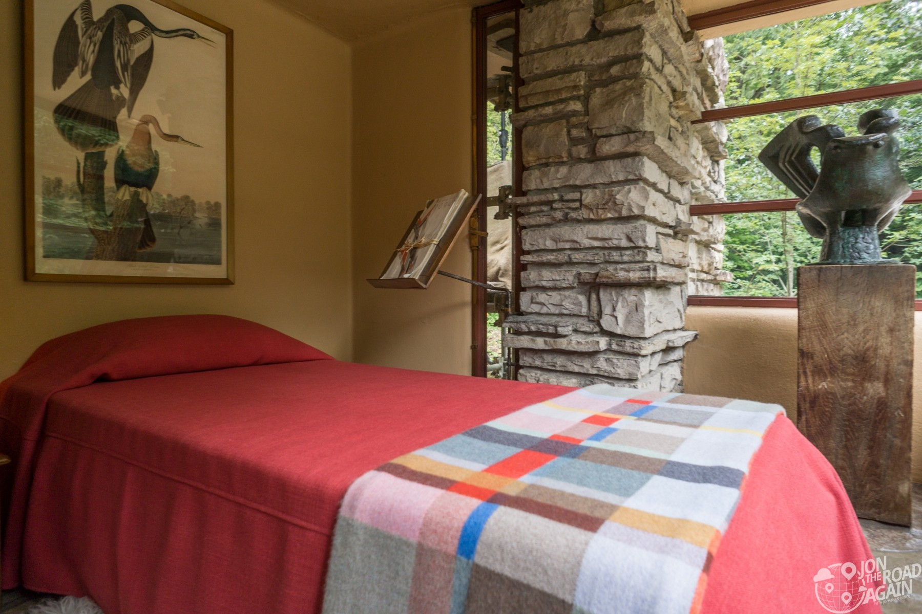 Fallingwater bedroom