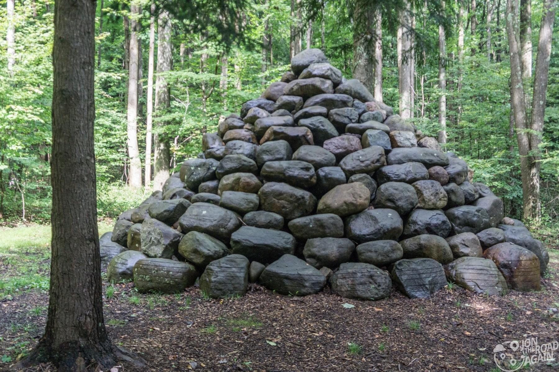 Kentuck Knob Andy Goldsworthy Rock Cairn