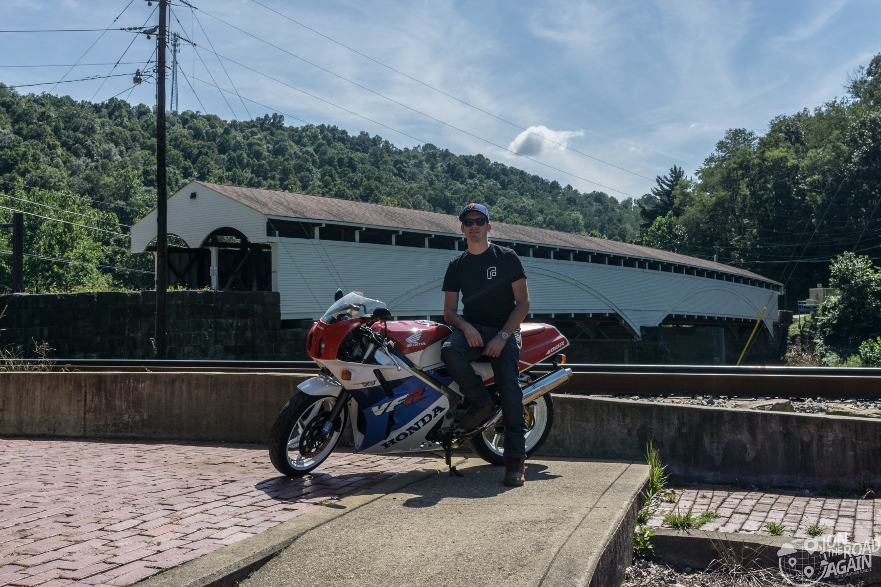VFR400R Motorcycle at Philippi Covered Bridge