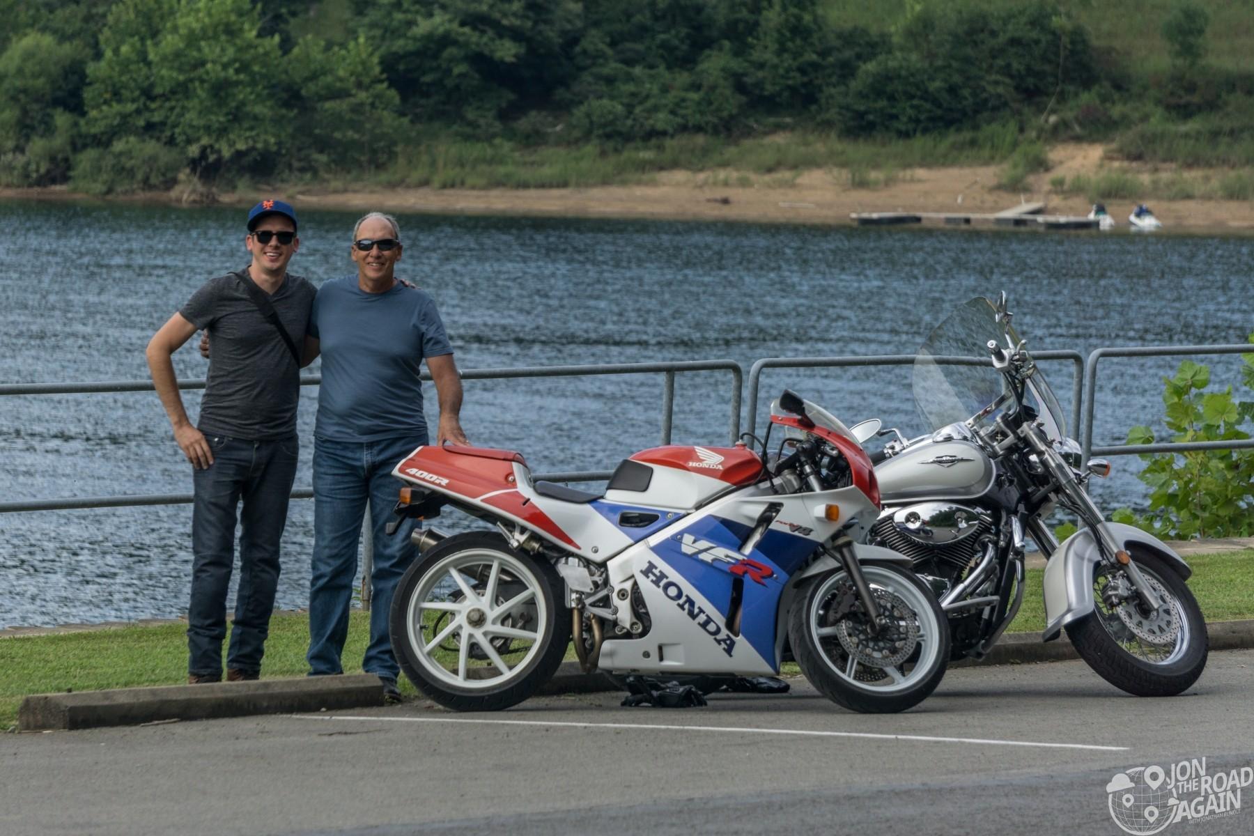 Motorcycles at Tygart Dam