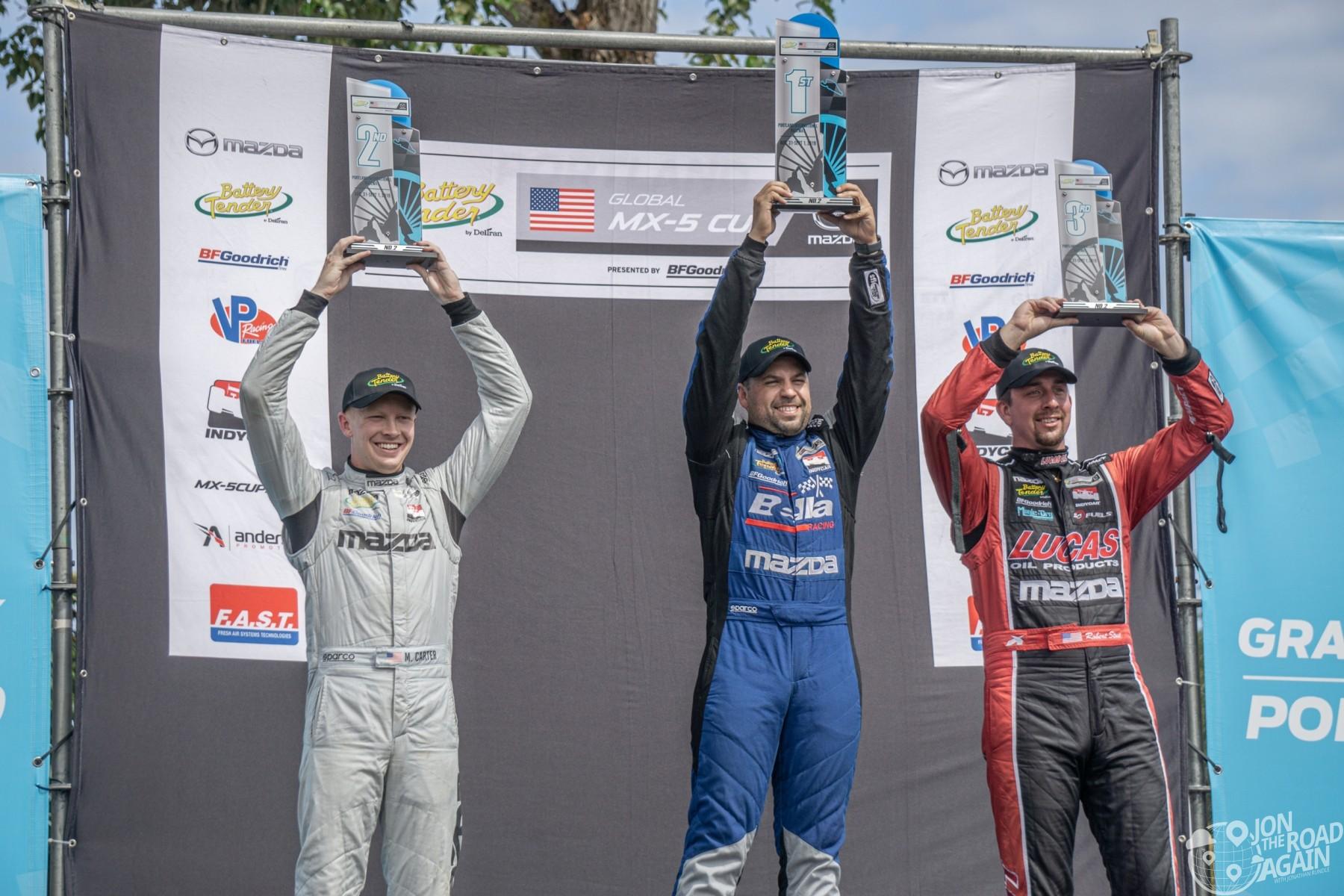 Mazda MX-5 Cup Portland Podium