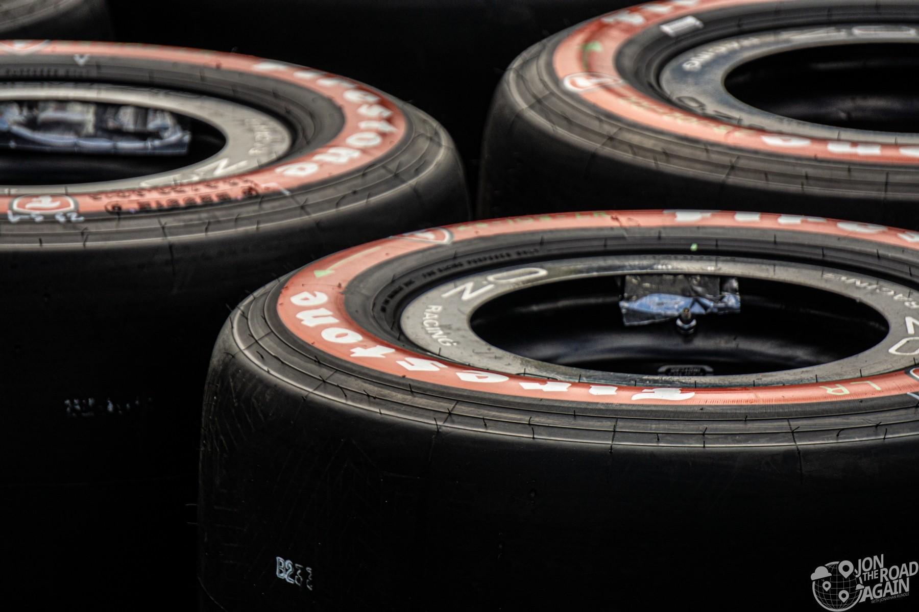 Indycar Firestone Red Tires