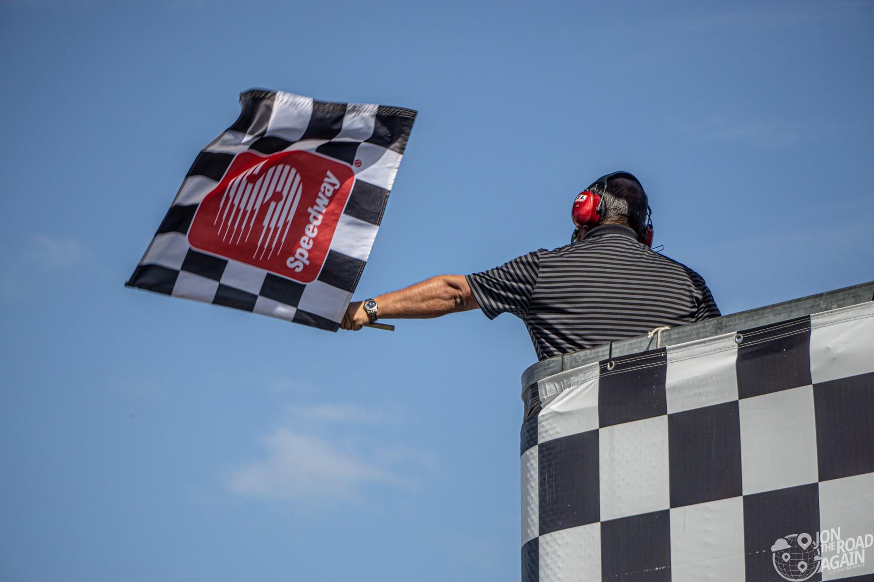 Grand Prix of Portland checkered flag